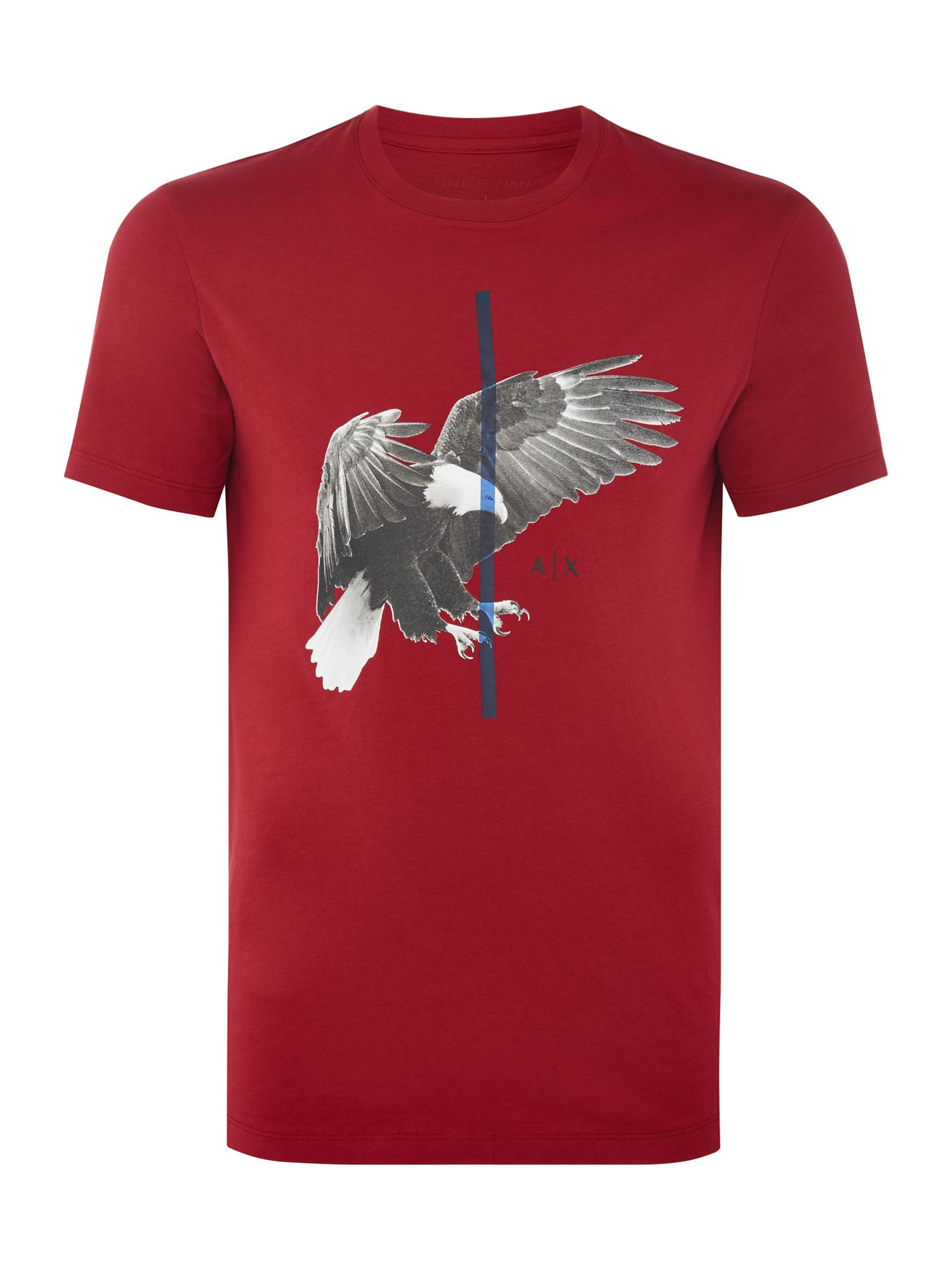 Men's Armani Exchange Eagle Print Tshirt, Red