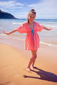 Platypus Australia Girls Tribal Coral Sundress