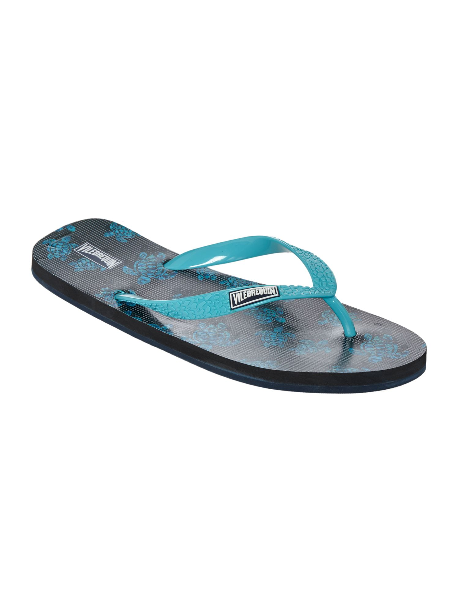 Men's Vilebrequin Turtle Print Flip Flops, Multi-Coloured