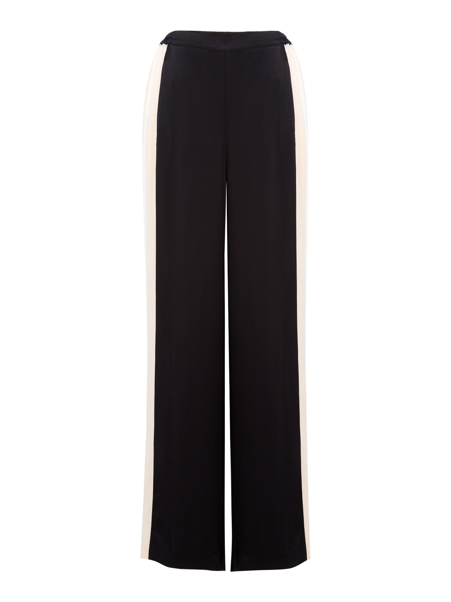 Label Lab Satin Stripe Trouser, Black