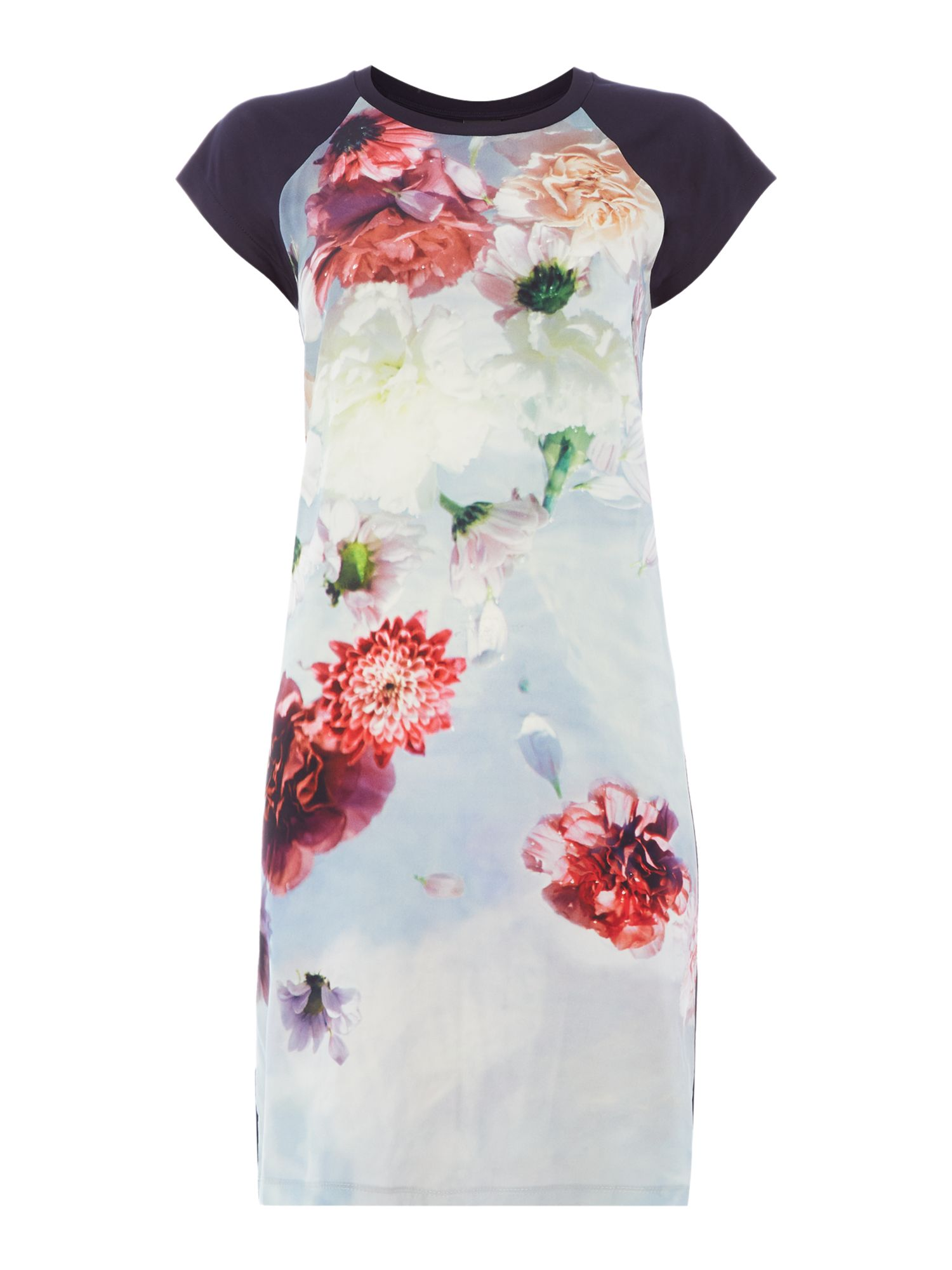 PS By Paul Smith Pauls Photo Floral T-Shirt Dress, Multi-Coloured