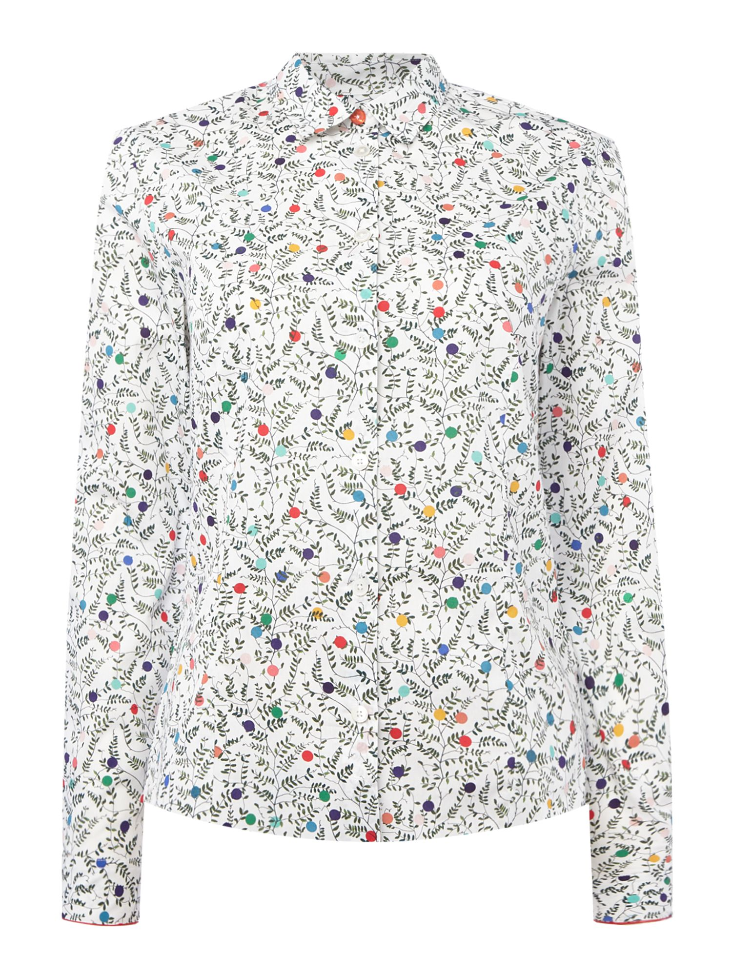 PS By Paul Smith Vine Spot Cotton Shirt, Multi-Coloured