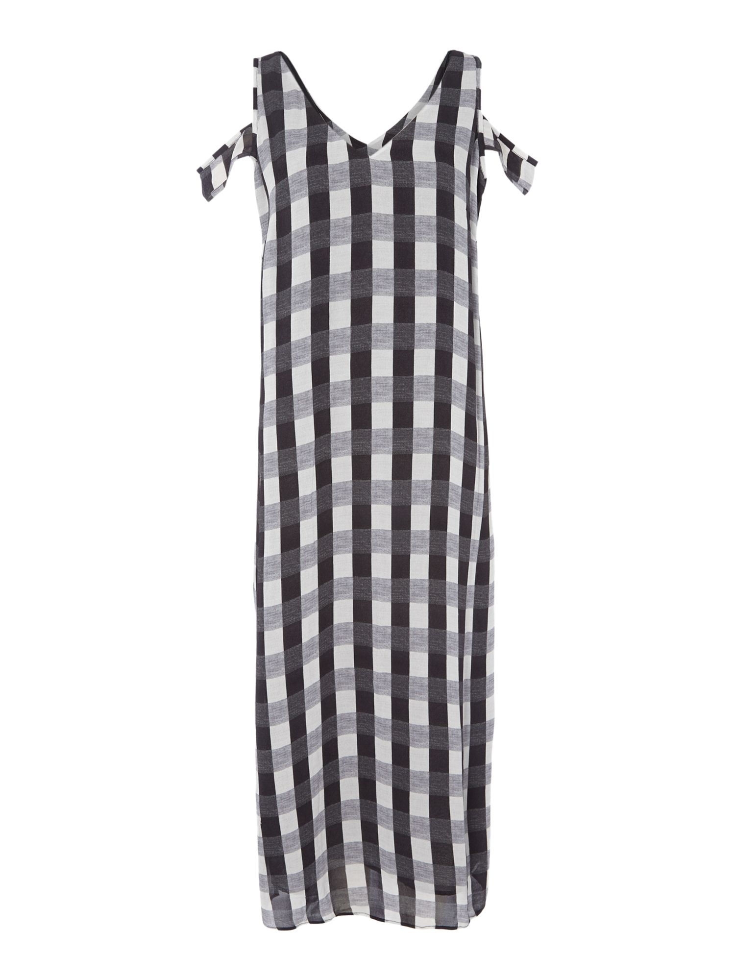Label Lab Gingham Check Midi Dress, Blue