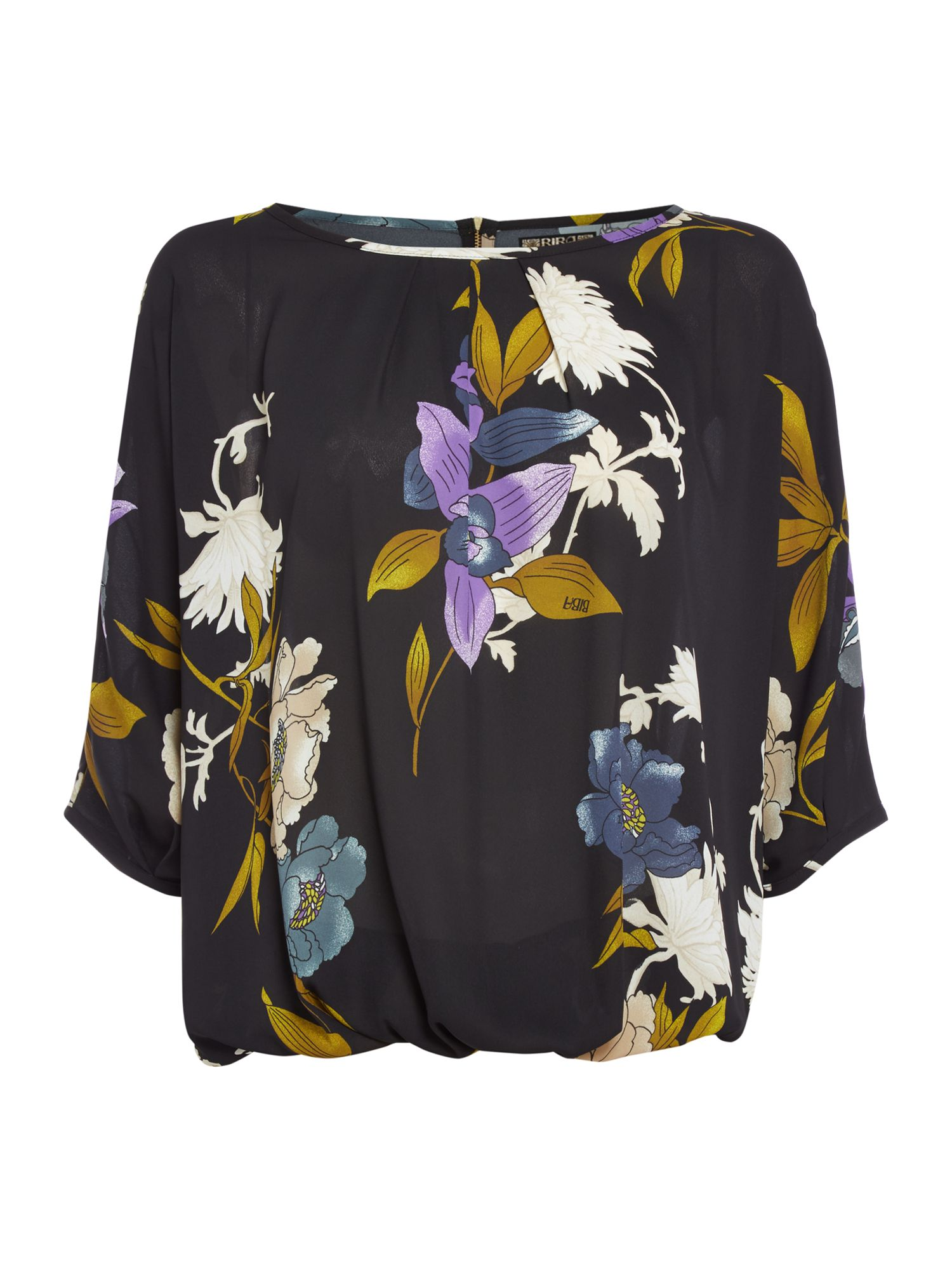 Biba Volume printed floral blouse, Multi-Coloured