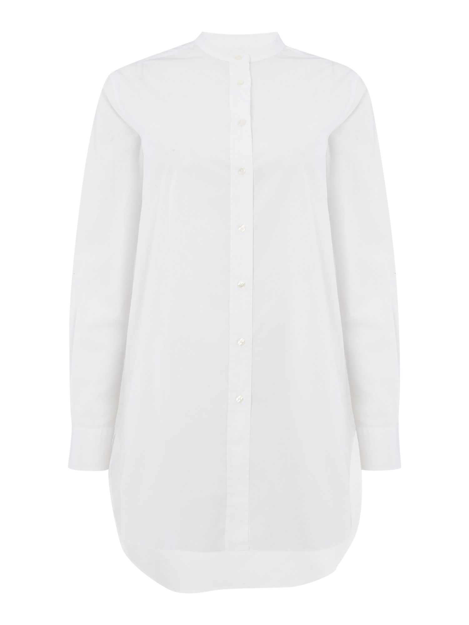 Gant Woven long white shirt, White