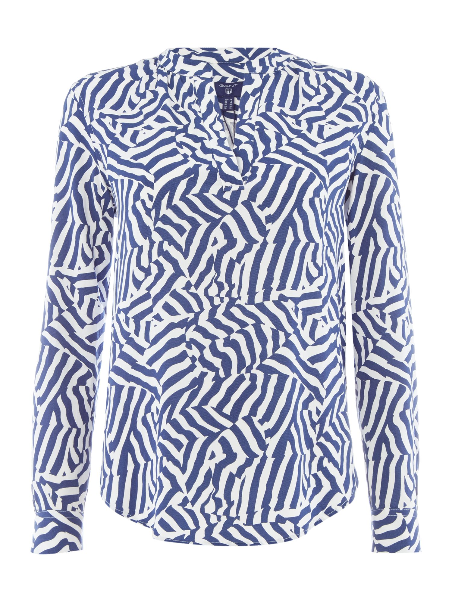 Gant Woven cameo striped blouse, Blue