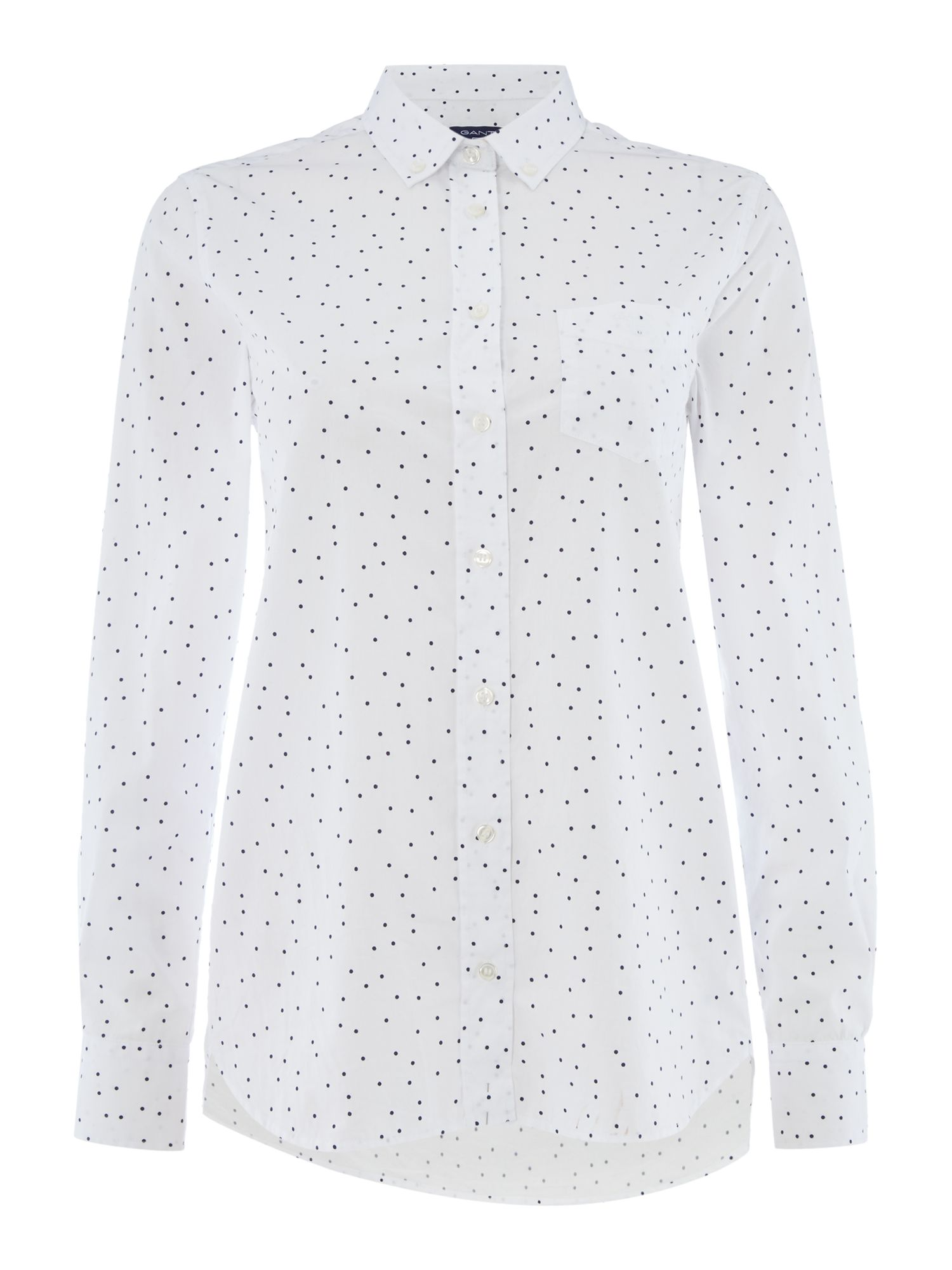 Gant Woven dot printed shirt, White