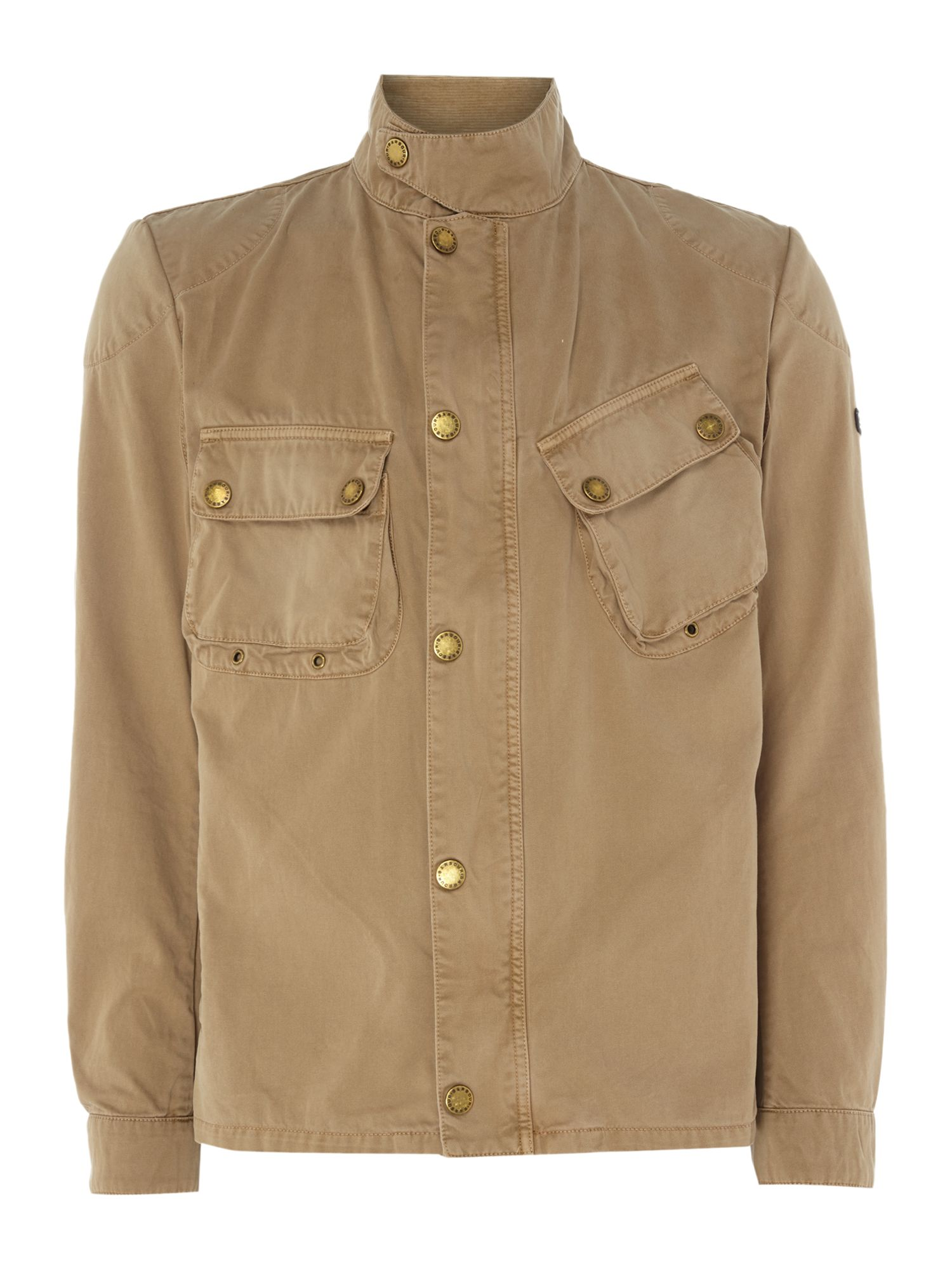 Mens Barbour Washed out schmoto casual jacket Stone