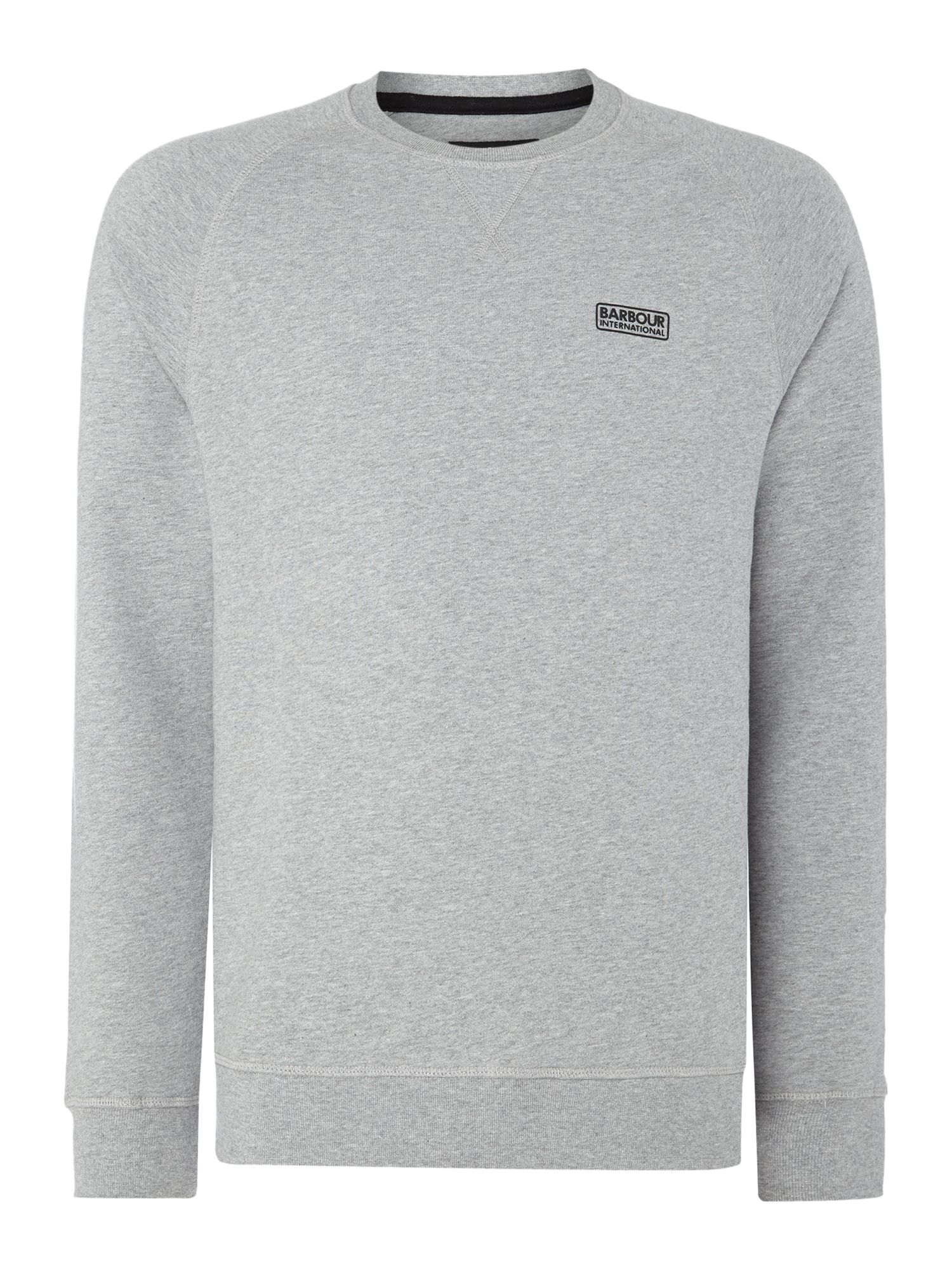 Men's Barbour Logo crew-neck sweatshirt, Grey Marl