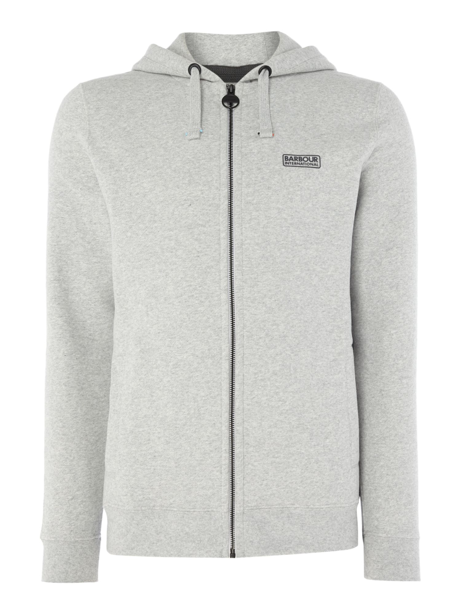 Men's Barbour Small logo hooded sweat, Grey Marl