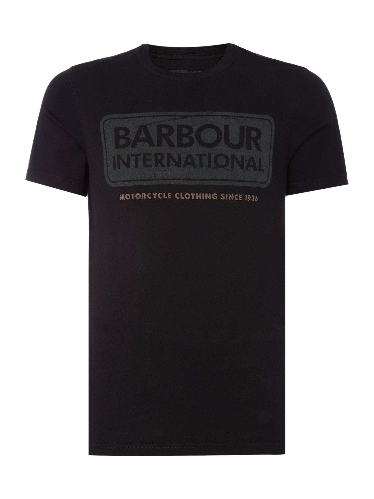 Men's Barbour International logo t-shirt, Black