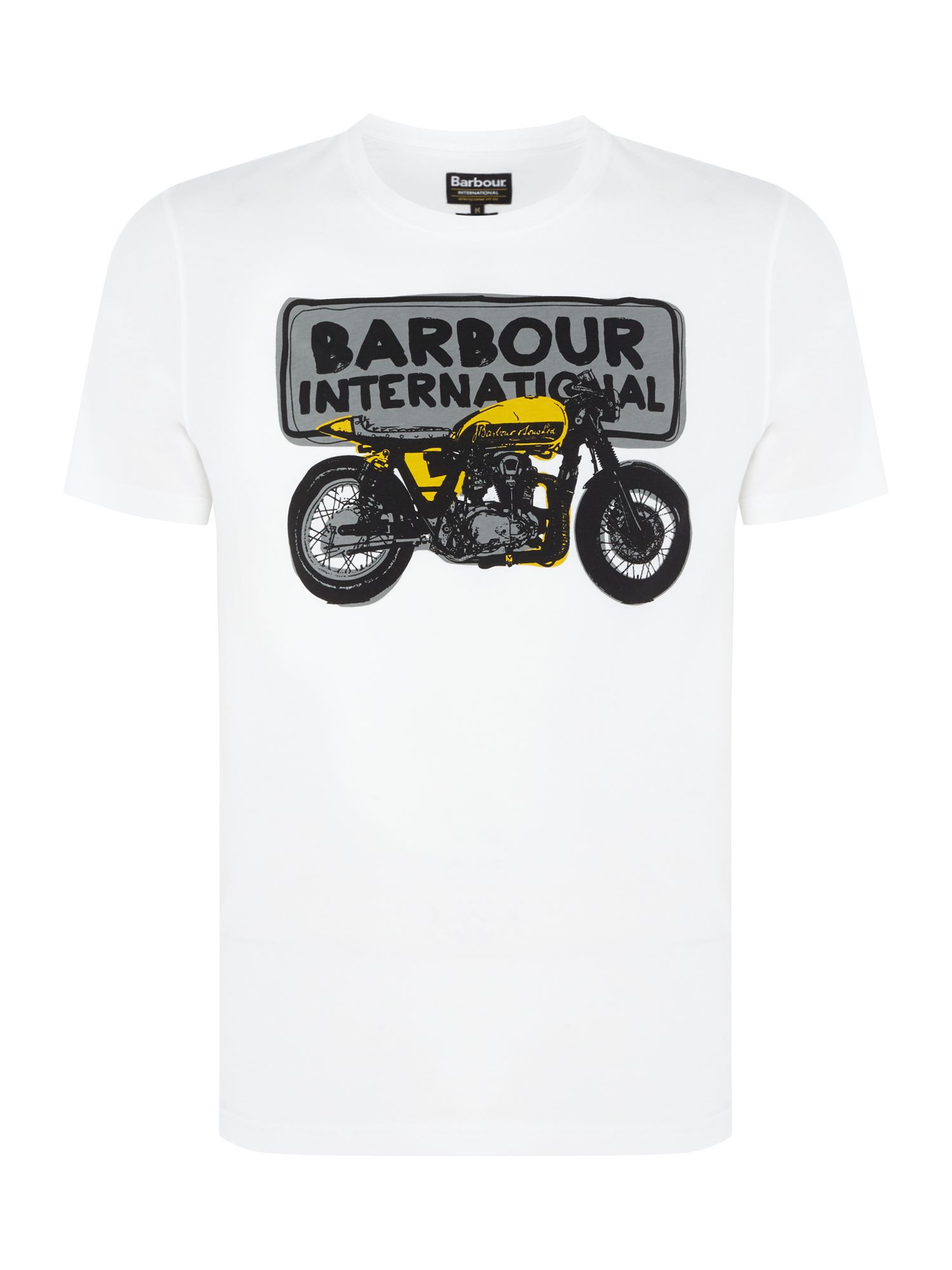 Men's Barbour Bike sketch print short sleeve t-shirt, White