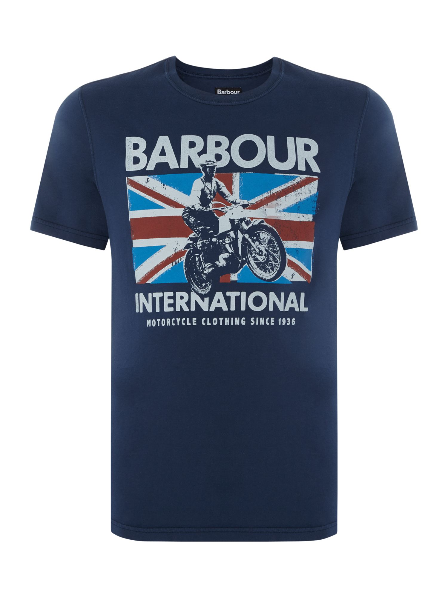 Men's Barbour Bike jump jack print short sleeve t-shirt, Blue