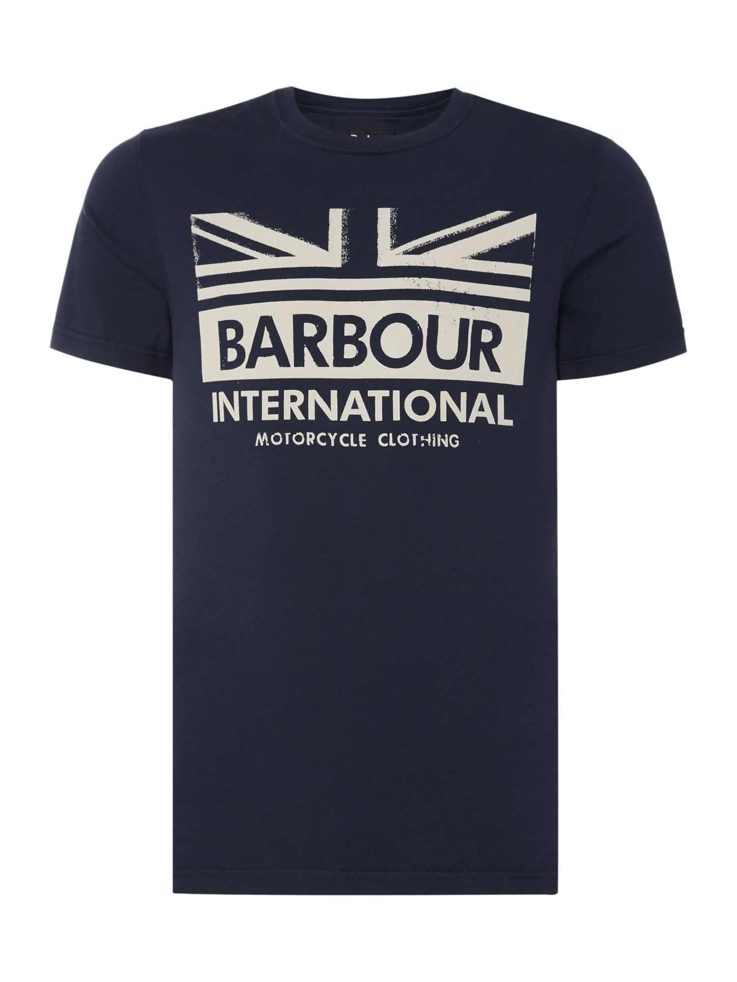 Men's Barbour One colour union jack print t-shirt, Blue