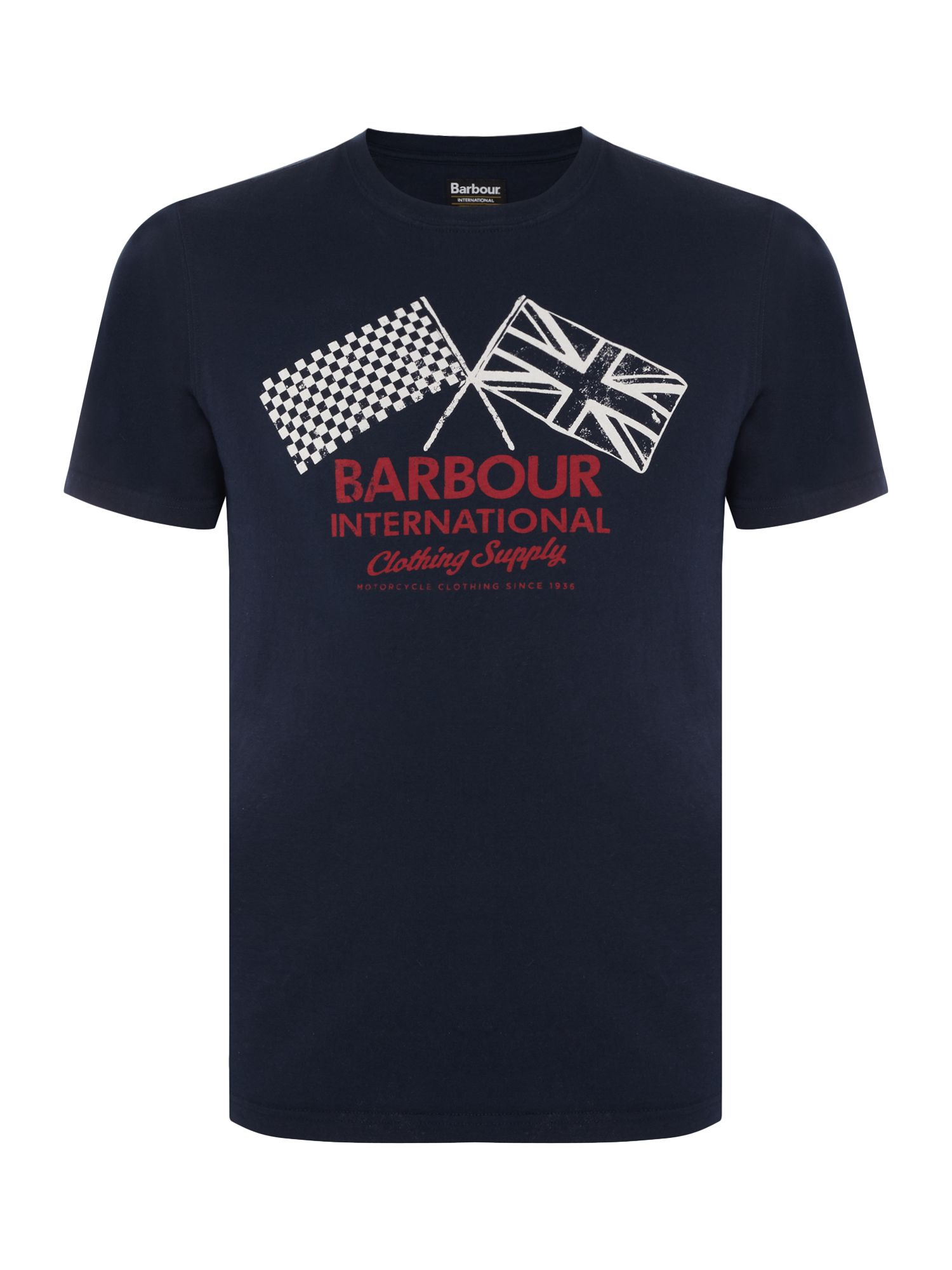 Men's Barbour Flag print short sleeve t-shirt, Blue