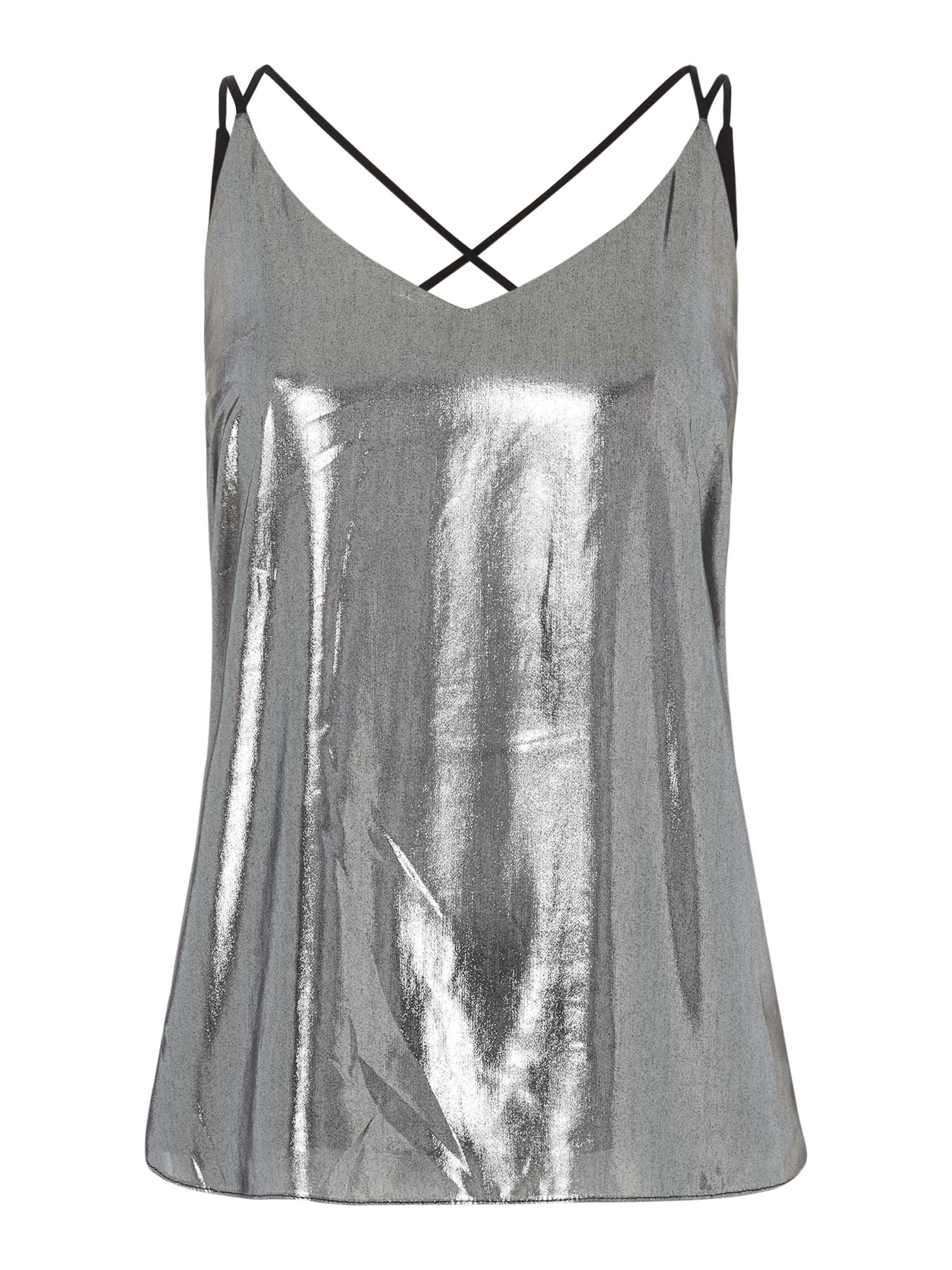 Label Lab Liquid Metallic Cami, Silver