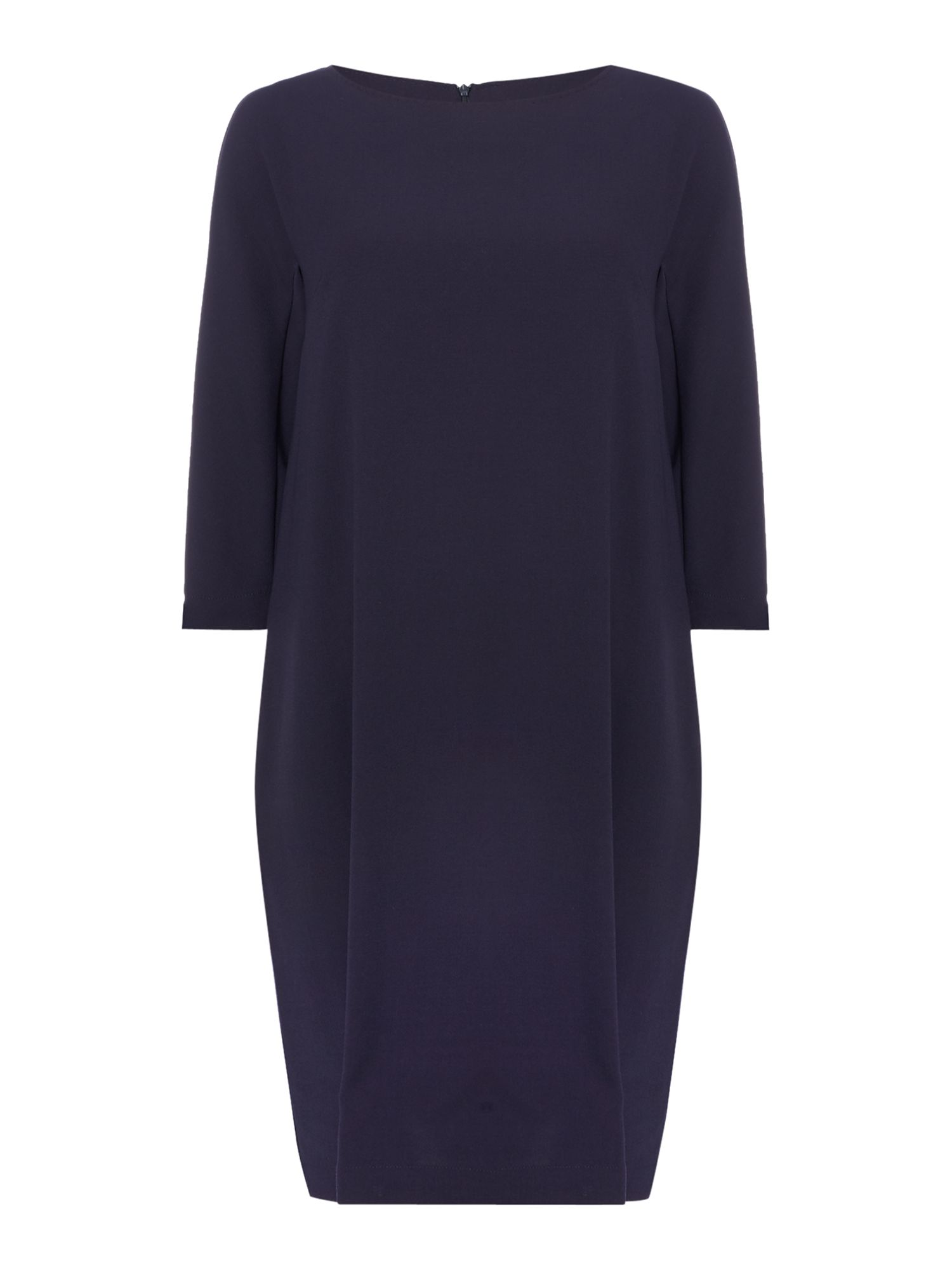 Max Mara Studio Alatri long sleeve ruffle back shift dress, Blue