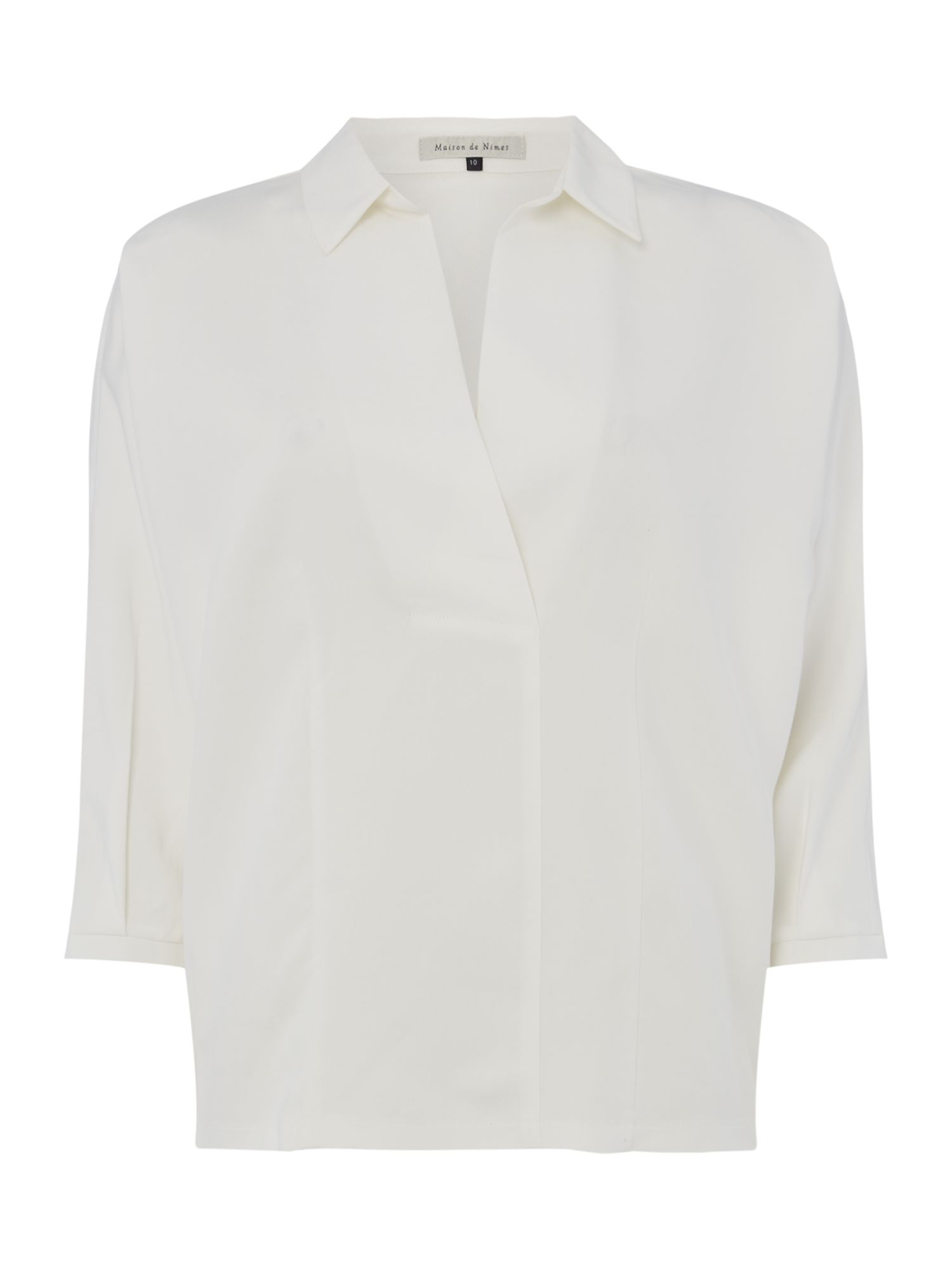 Maison De Nimes Pleat Back Shirt, Cream