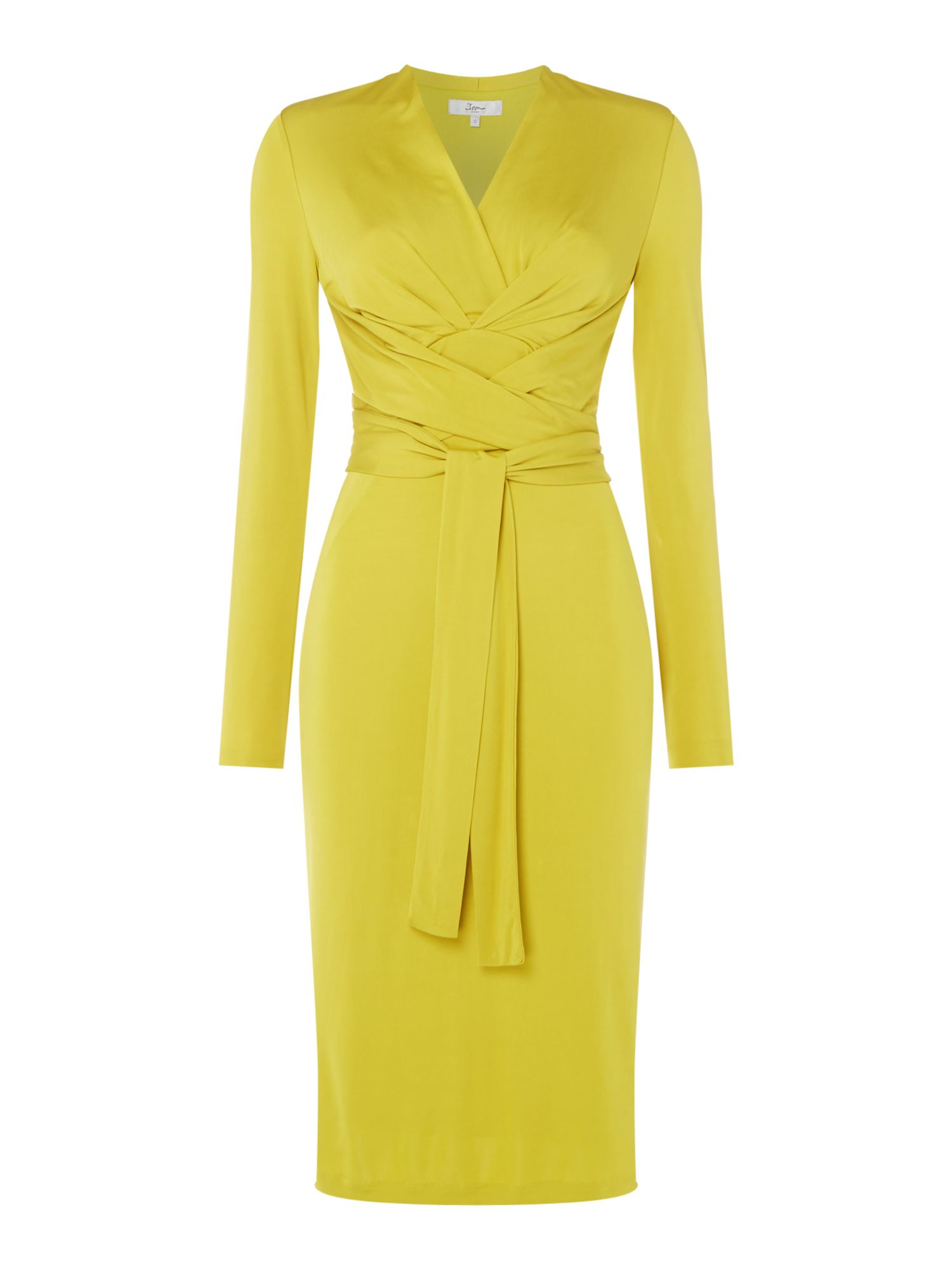 ISSA Kate Tie Wrap Dress, Lime