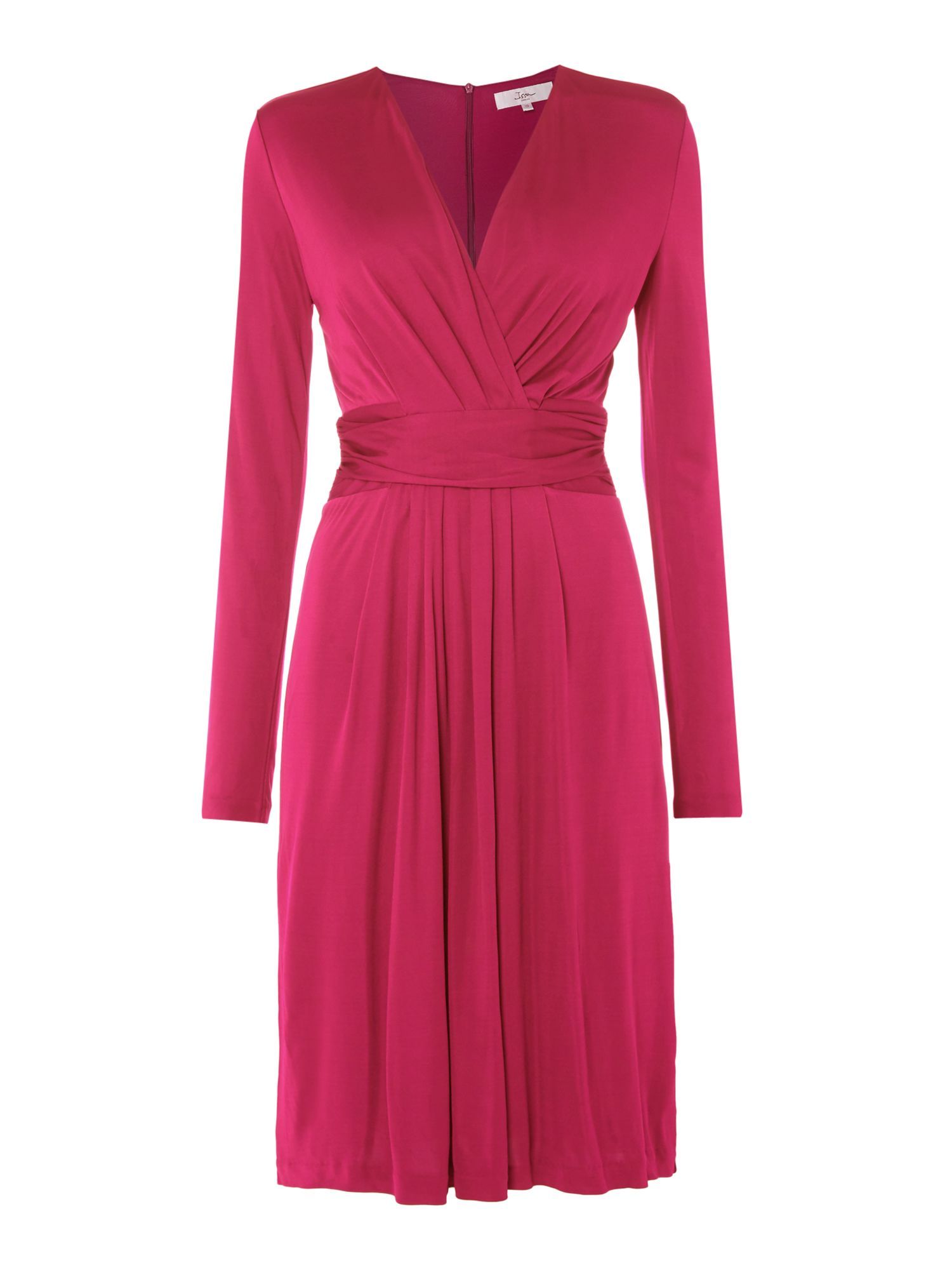 ISSA Darcy Pleat Detail Dress, Orchid