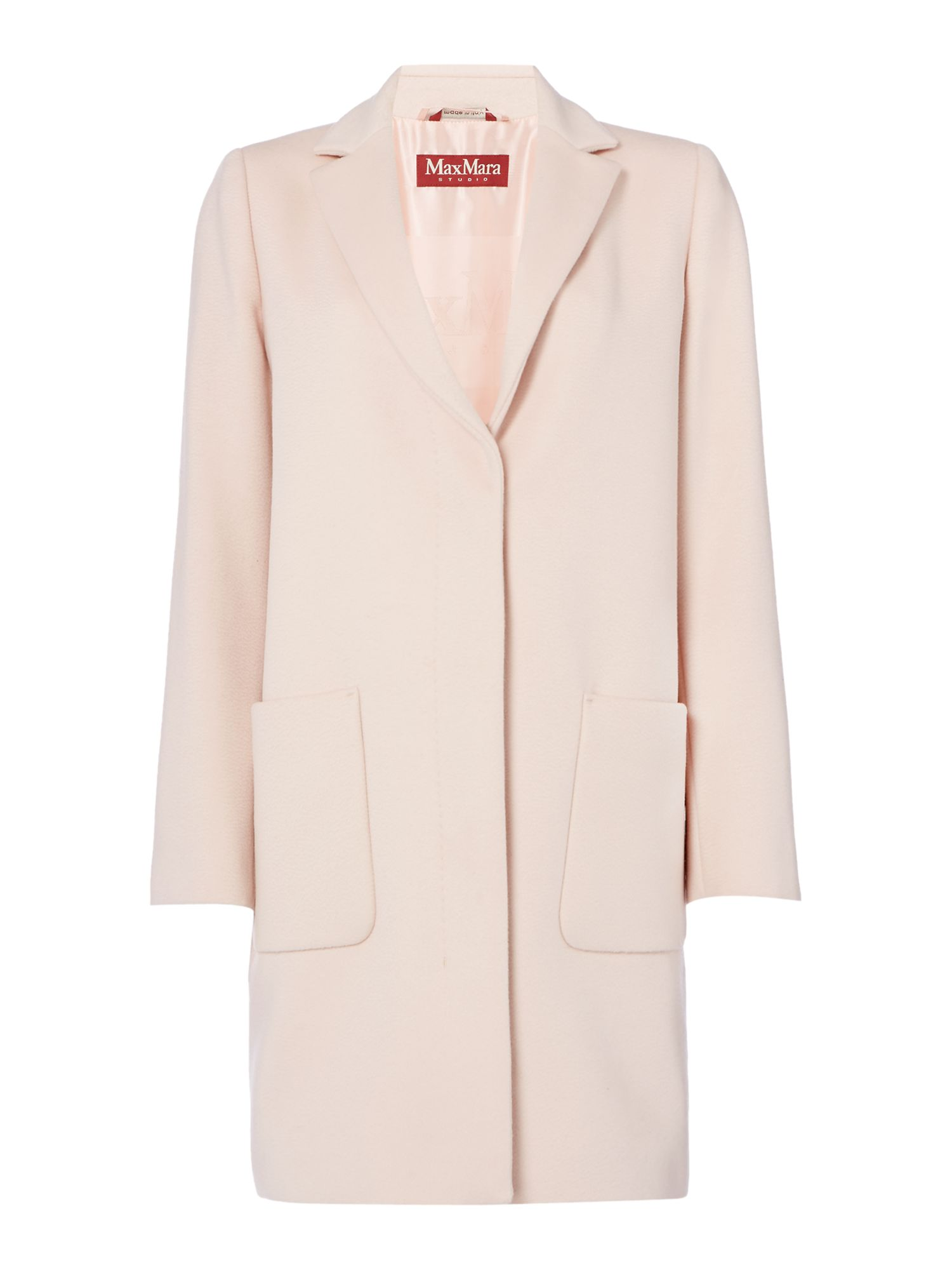 Max Mara Studio Summa two pocket coat, Pink