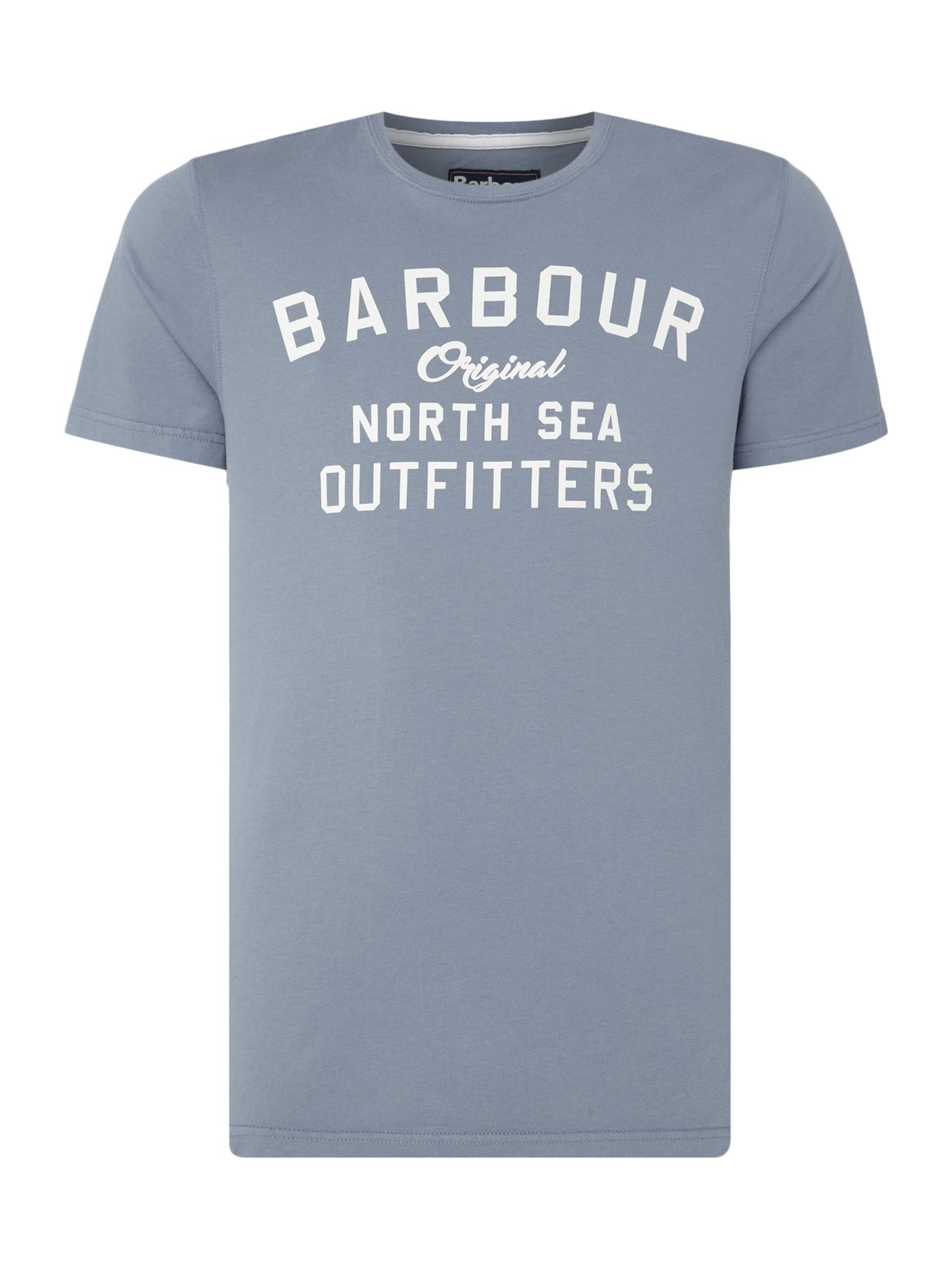 Men's Barbour Big barbour barnstaple logo short sleeve t-shirt, Light Blue