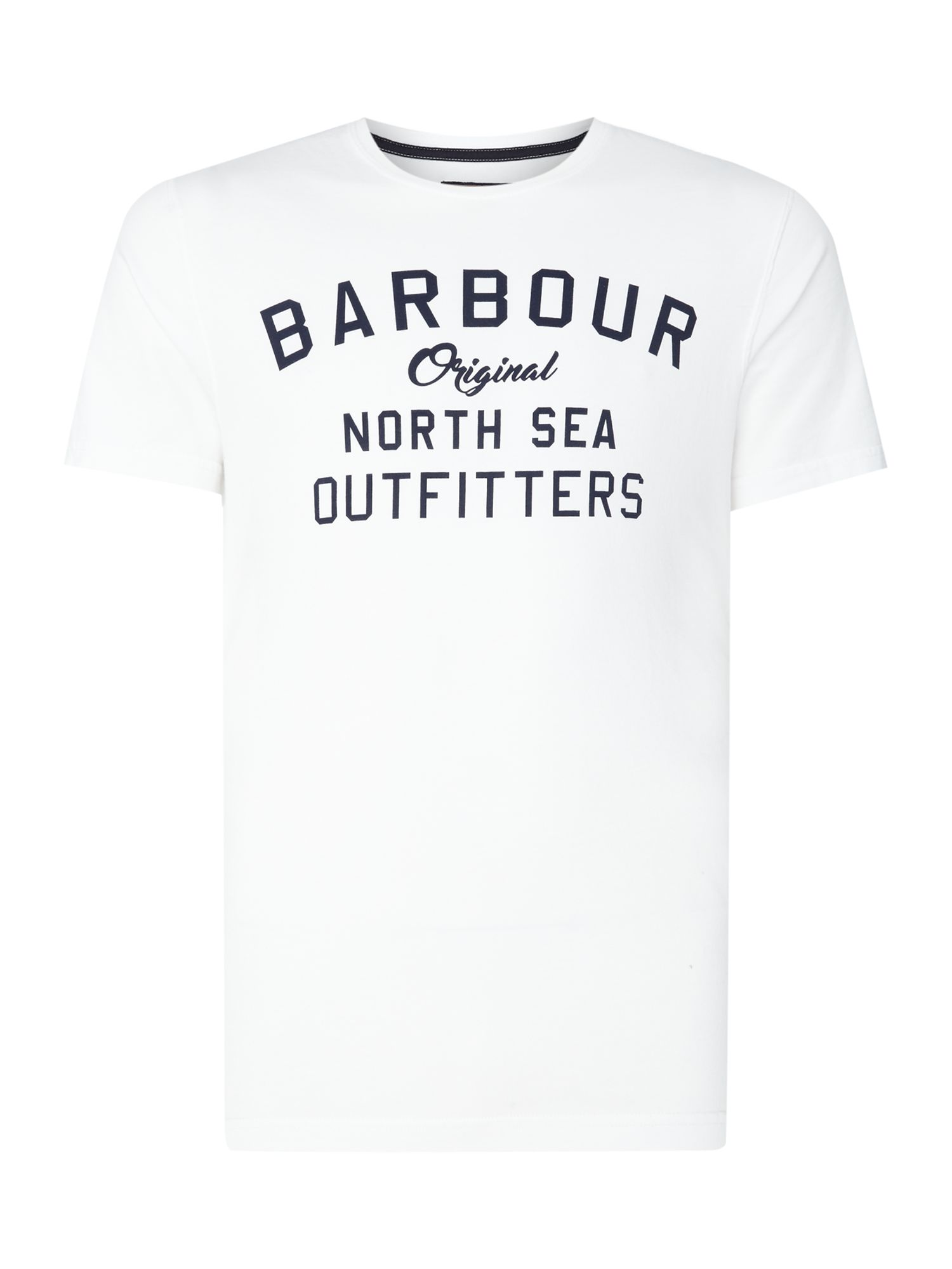 Men's Barbour Big barbour barnstaple logo short sleeve t-shirt, White