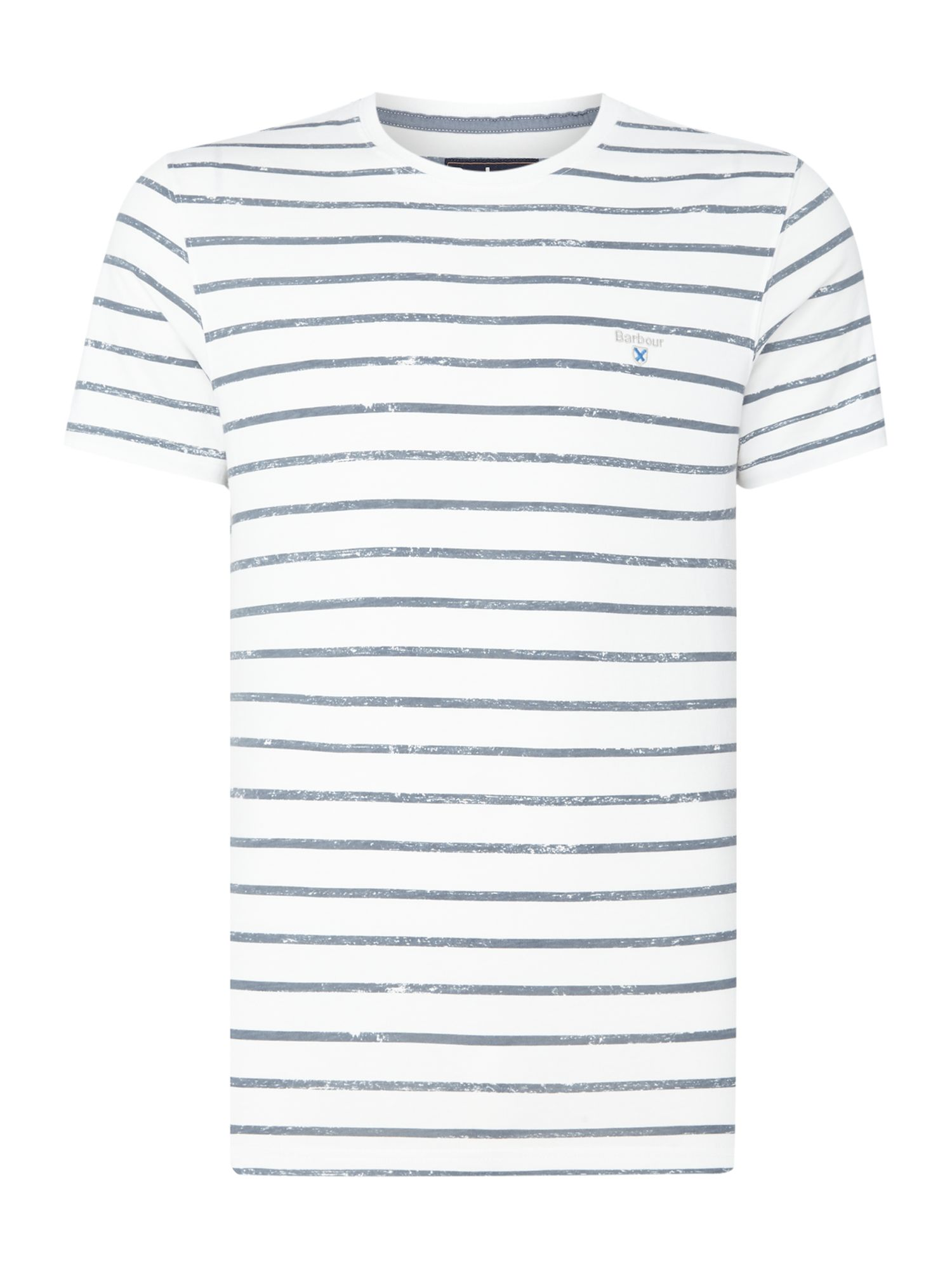 Men's Barbour Stripe print dalewood short sleeve t-shirt, White