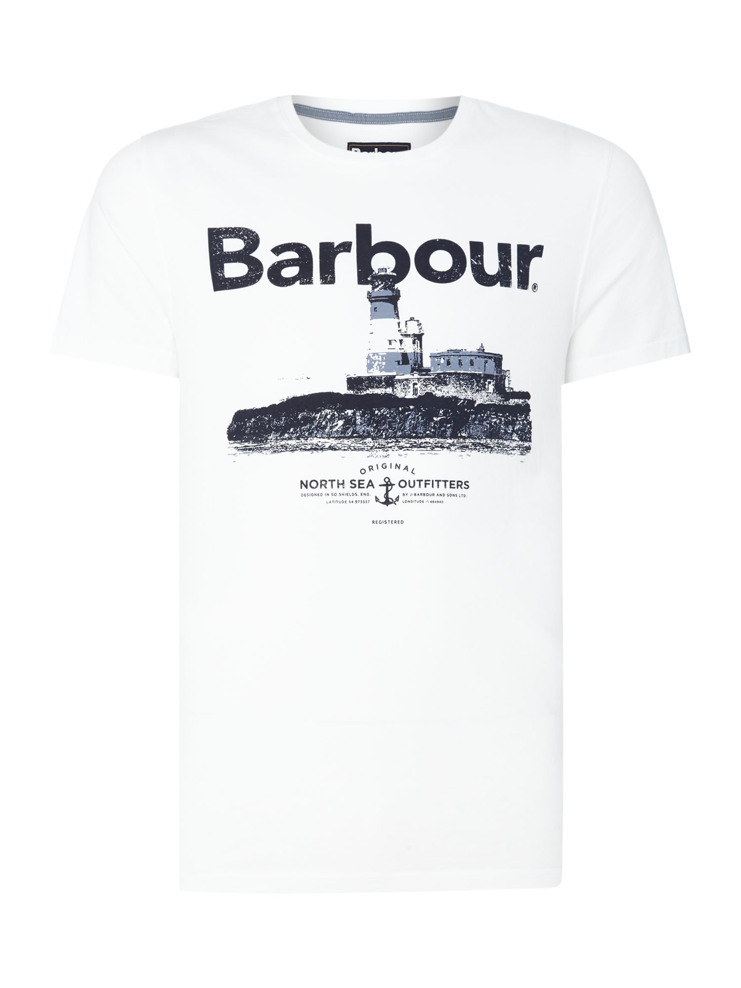 Men's Barbour padstow beacon short sleeve t-shirt, White