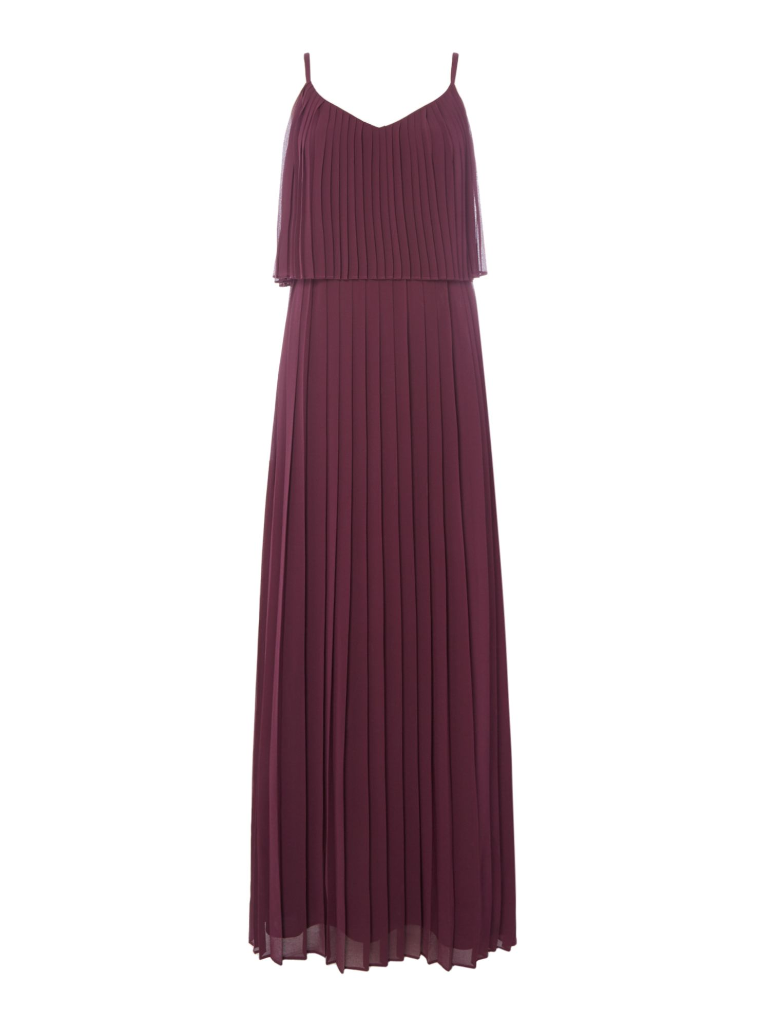 ISSA Iyla Pleated Strappy Dress, Purple