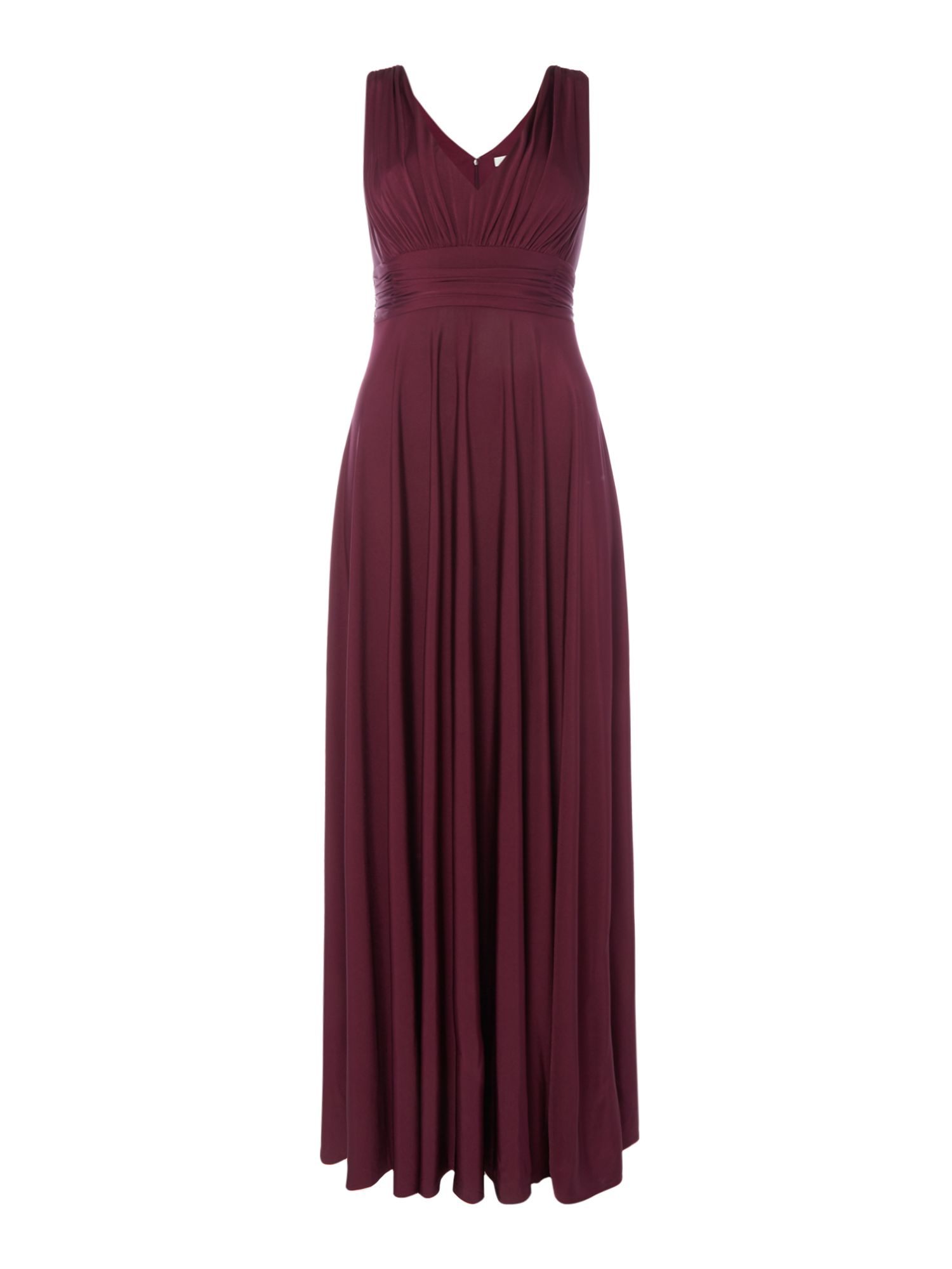 ISSA Olivia Deep V Maxi Dress, Purple