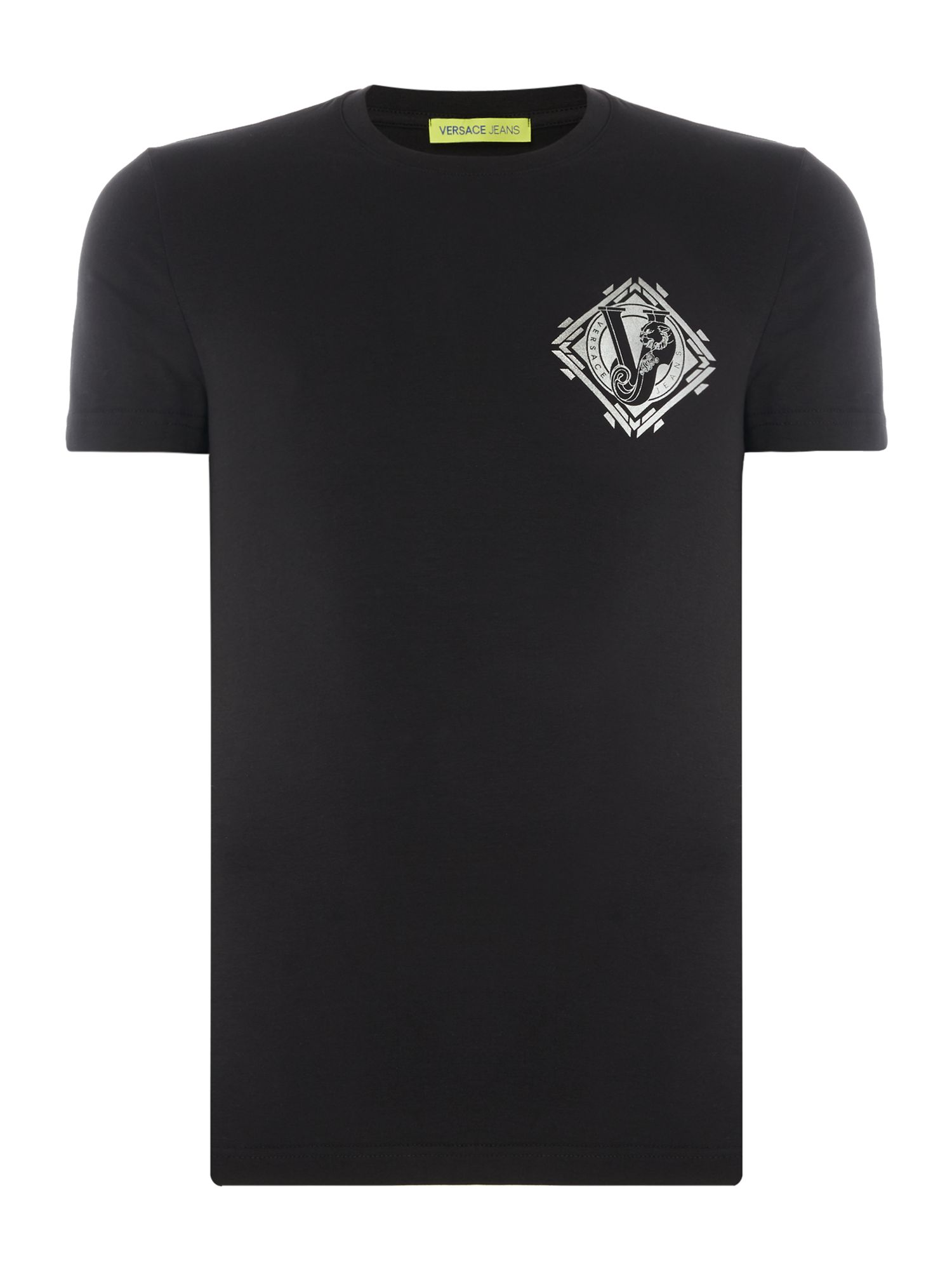 Men's Versace Jeans Crew Neck Logo T-Shirt, Black