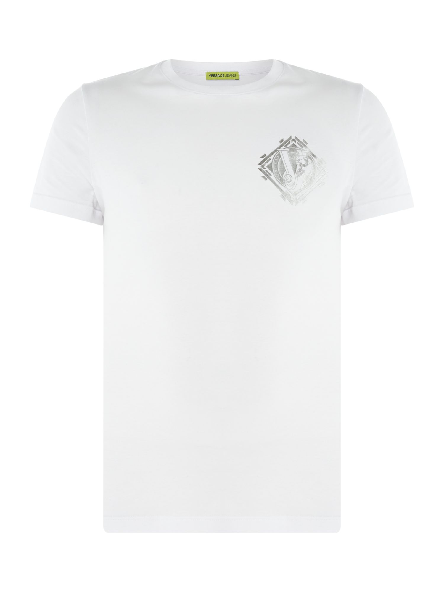 Men's Versace Jeans Crew Neck Logo T-Shirt, White