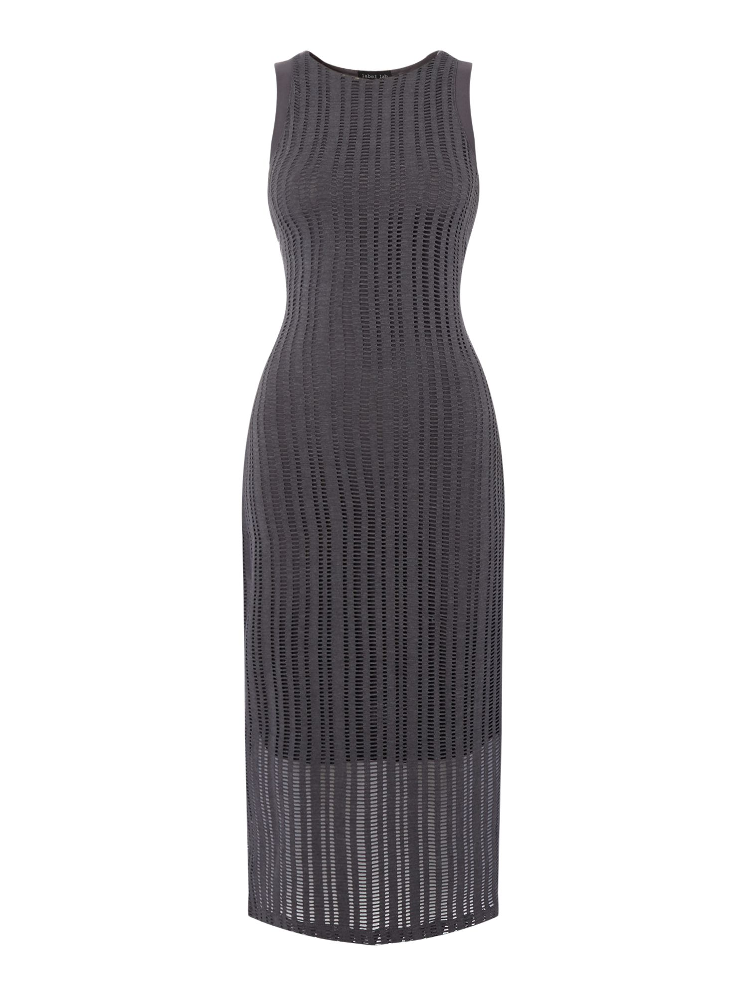 Label Lab Ladder Jersey Dress, Grey