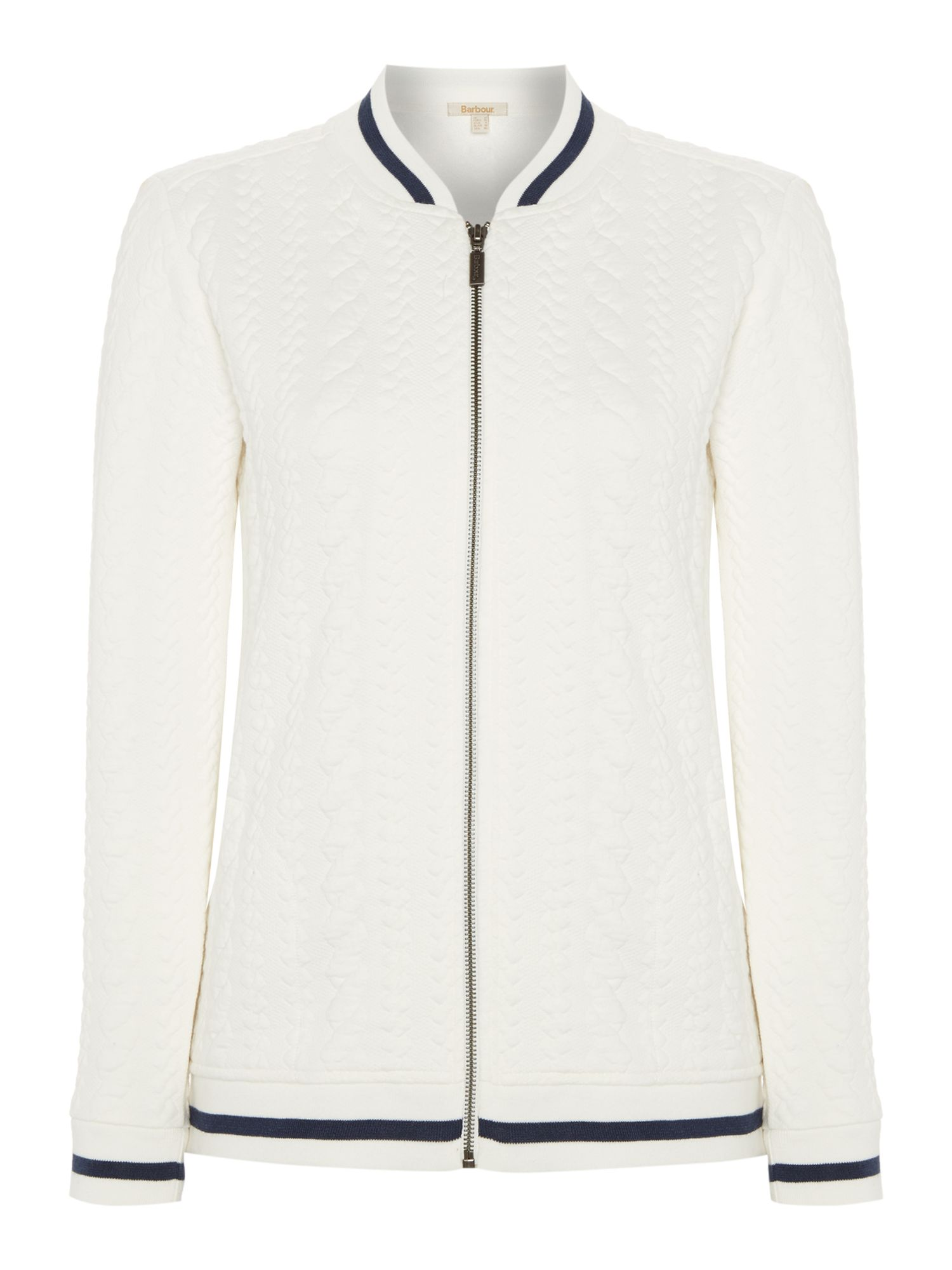 Barbour KELSEY SWEAT BOMBER JACKET, White