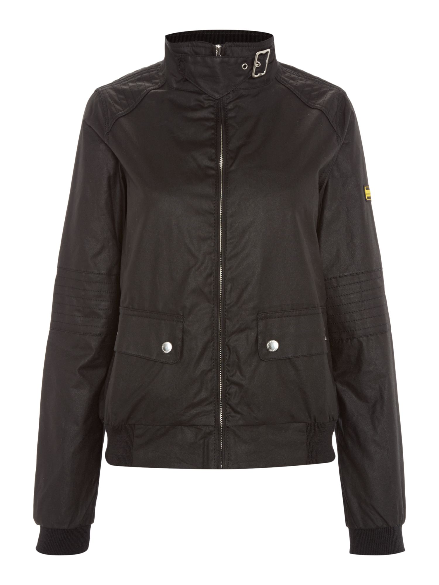 Barbour International Tain Wax Jacket, Black