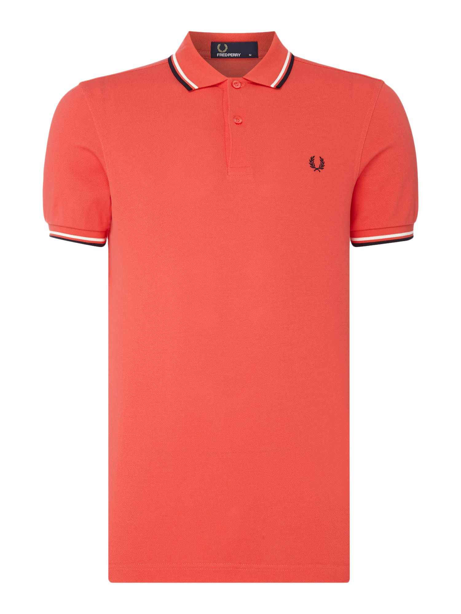 Men's Fred Perry Plain Twin Tipped Polo Shirt, Red
