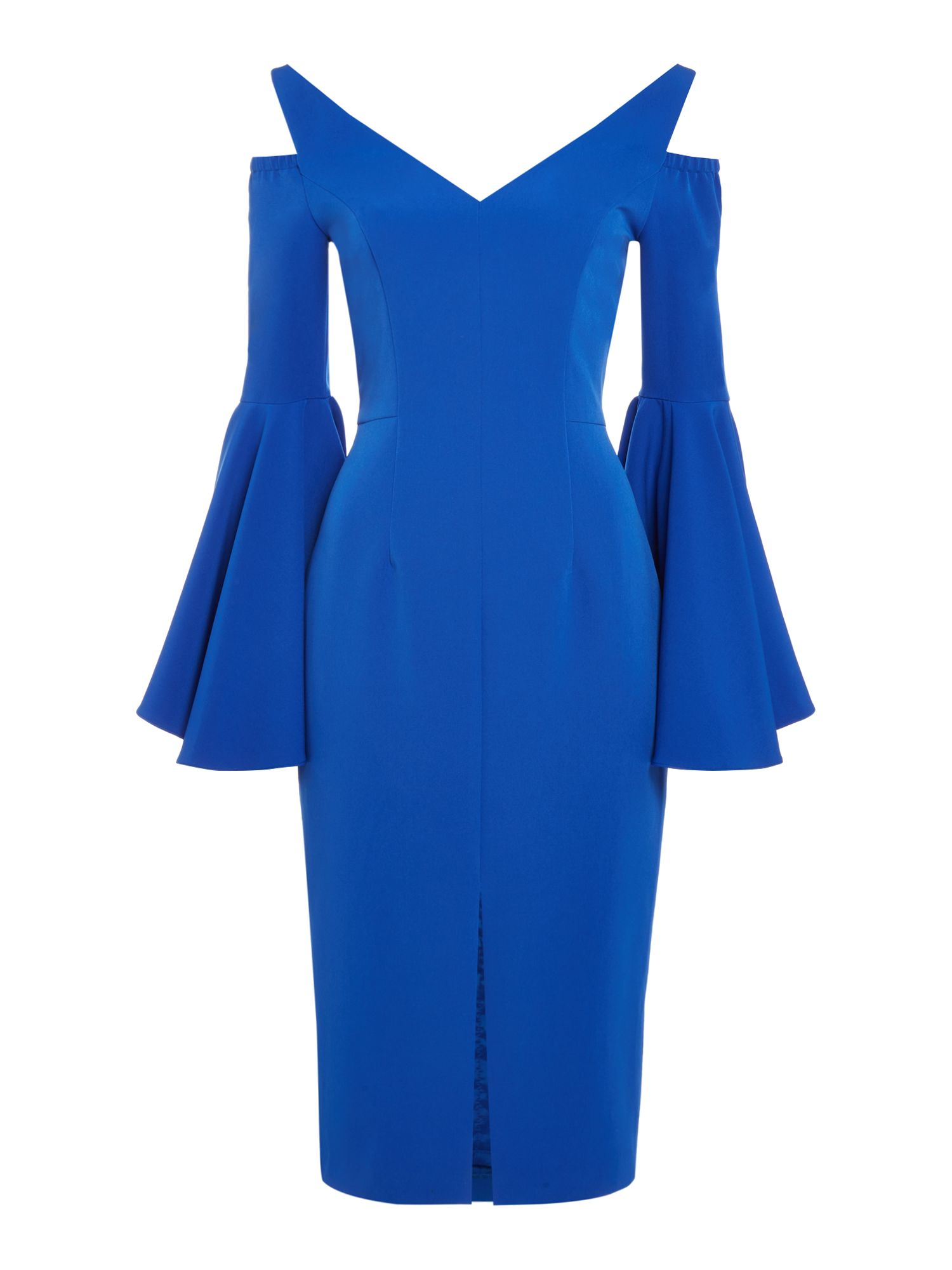 ISSA Sophia Ruffle Dress, Blue