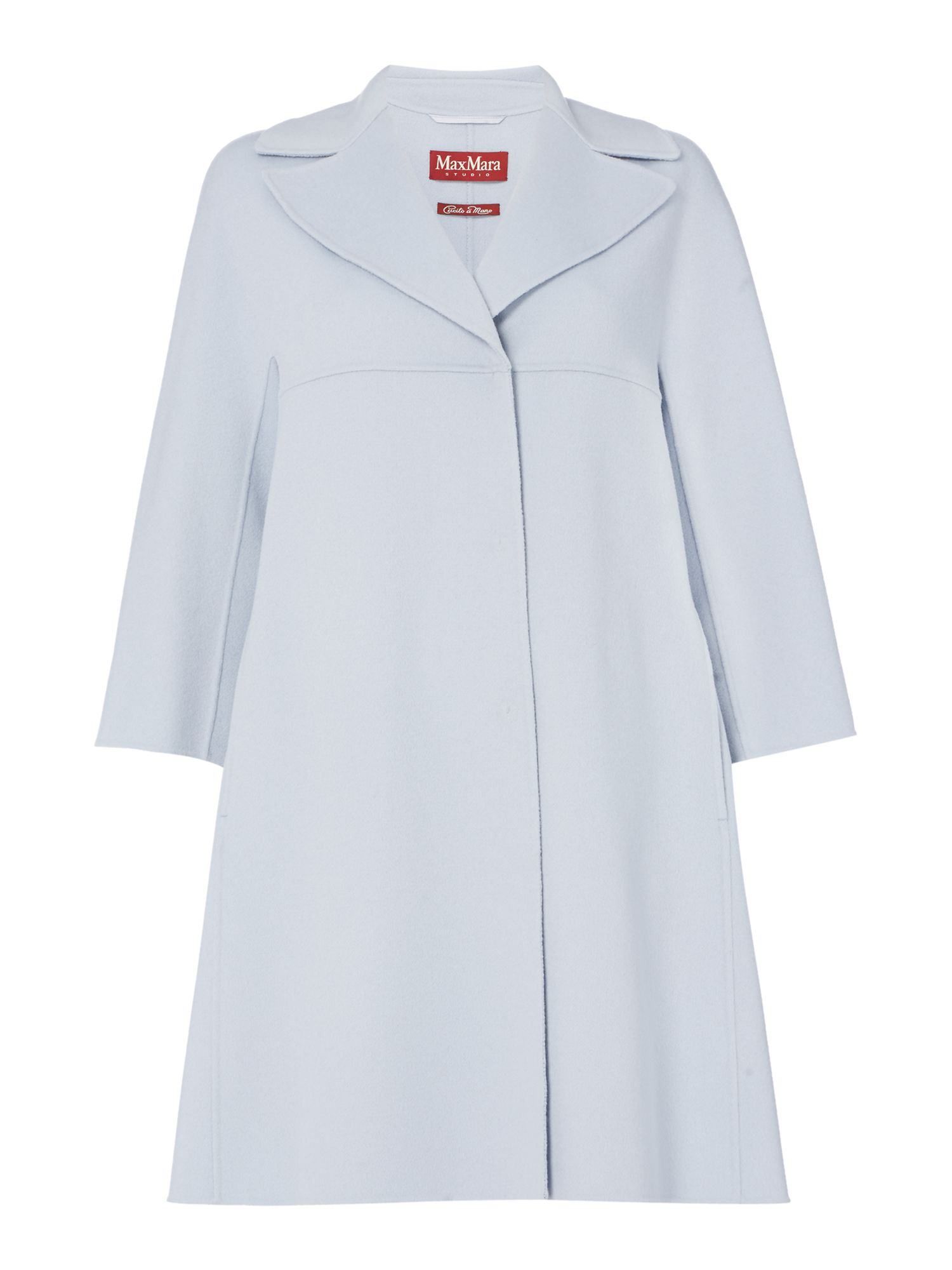 Max Mara Studio Baleari longsleeve light blue coat, Light Blue