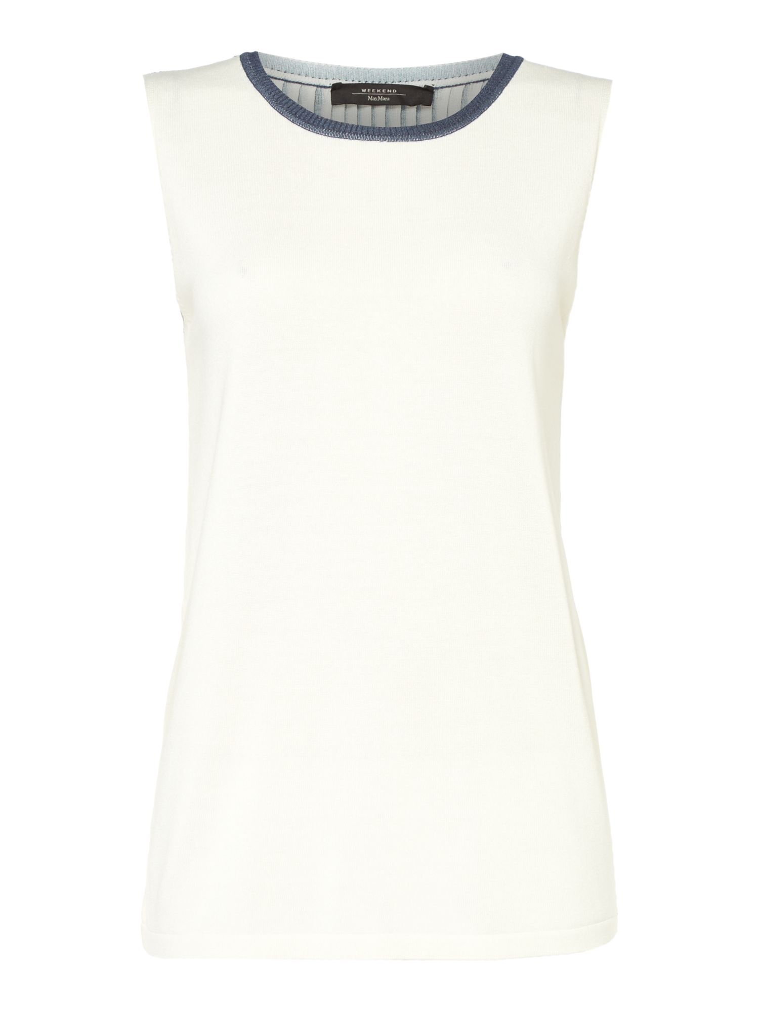 Max Mara Weekend Cogne Pleated Back Sleeveless Top, White