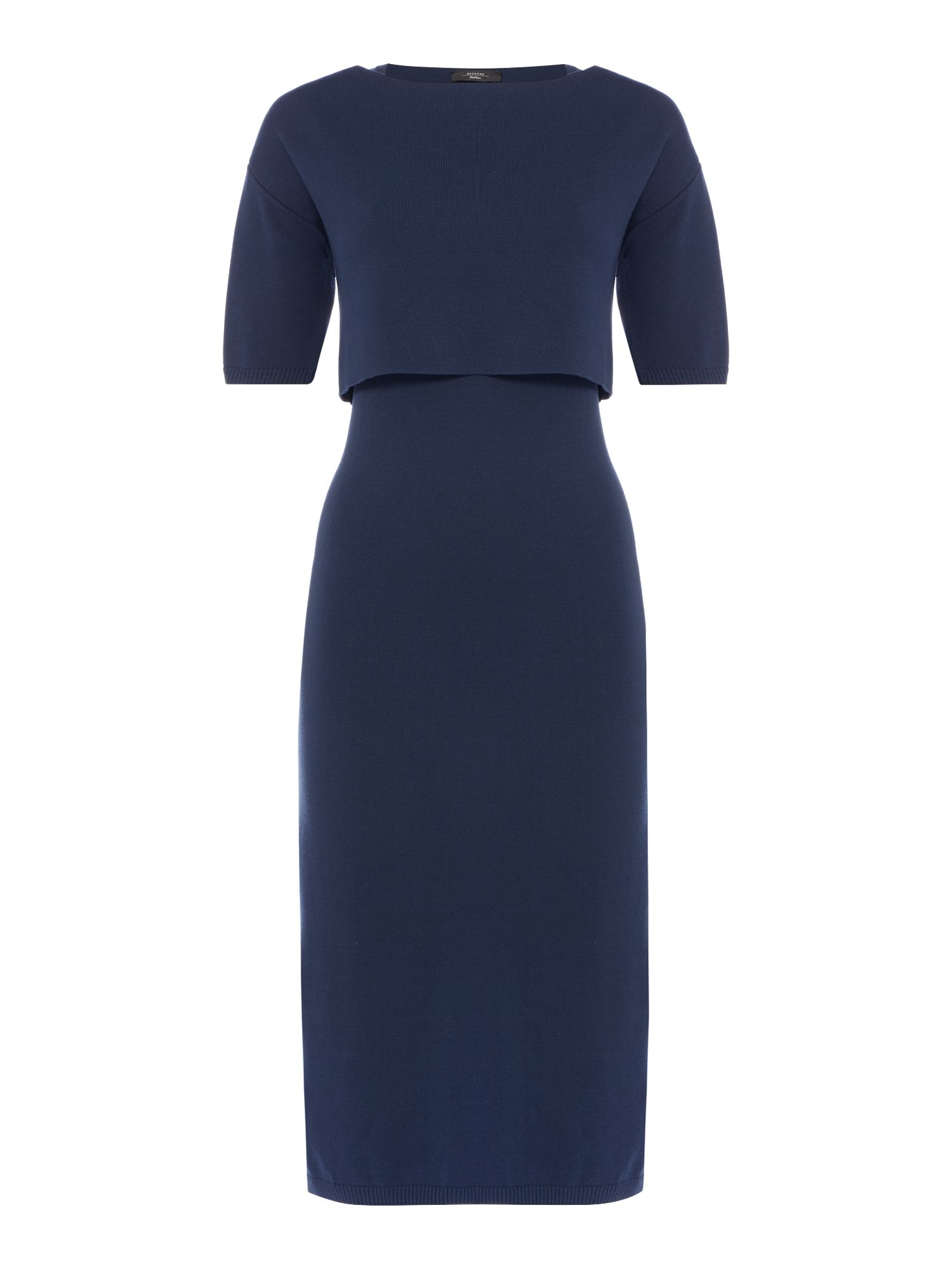 Max Mara Calata Two Piece Short Sleeve Dress Ultramarine