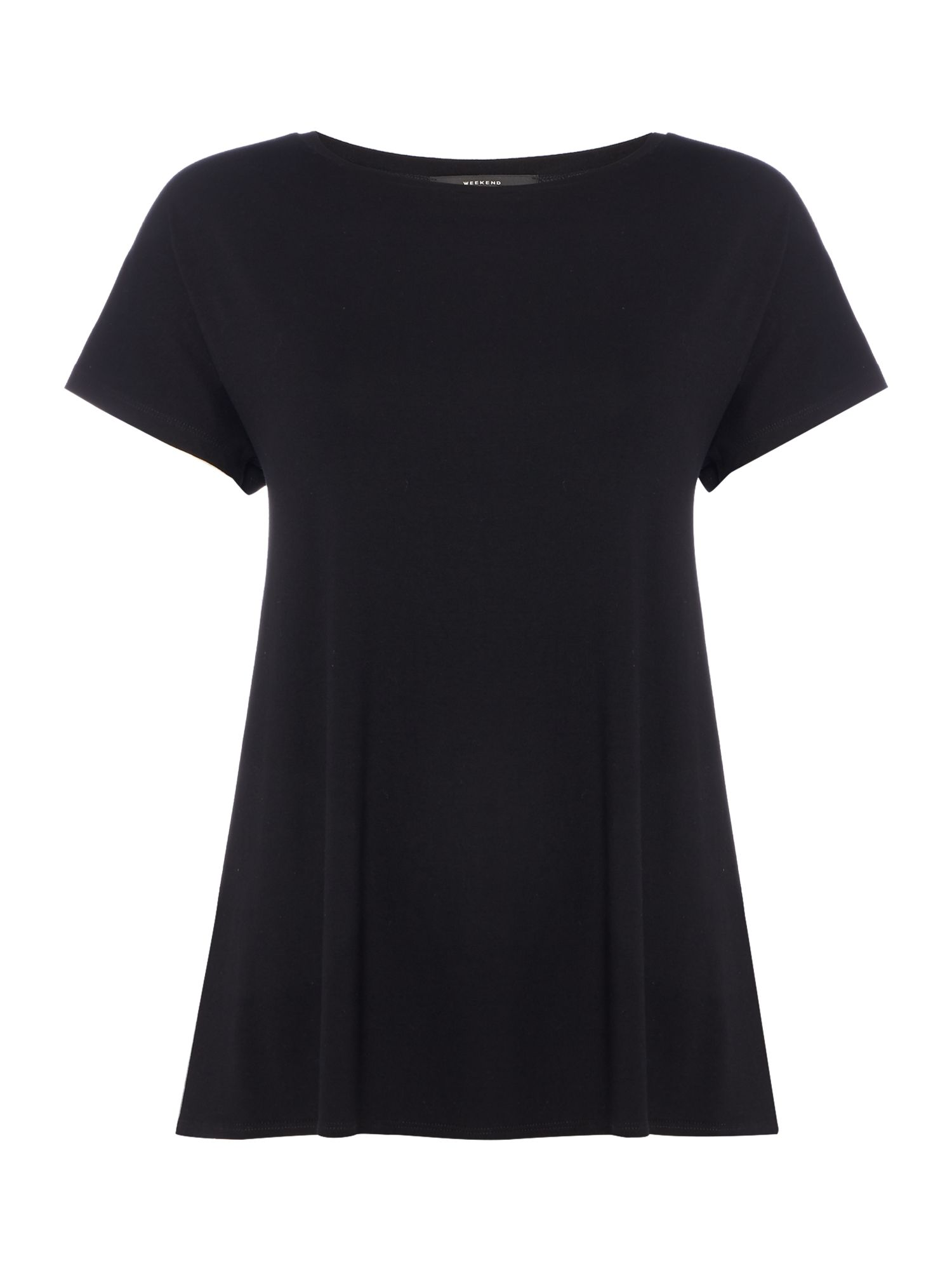 Max Mara Weekend Multia Plain Black Jersey Tee, Black
