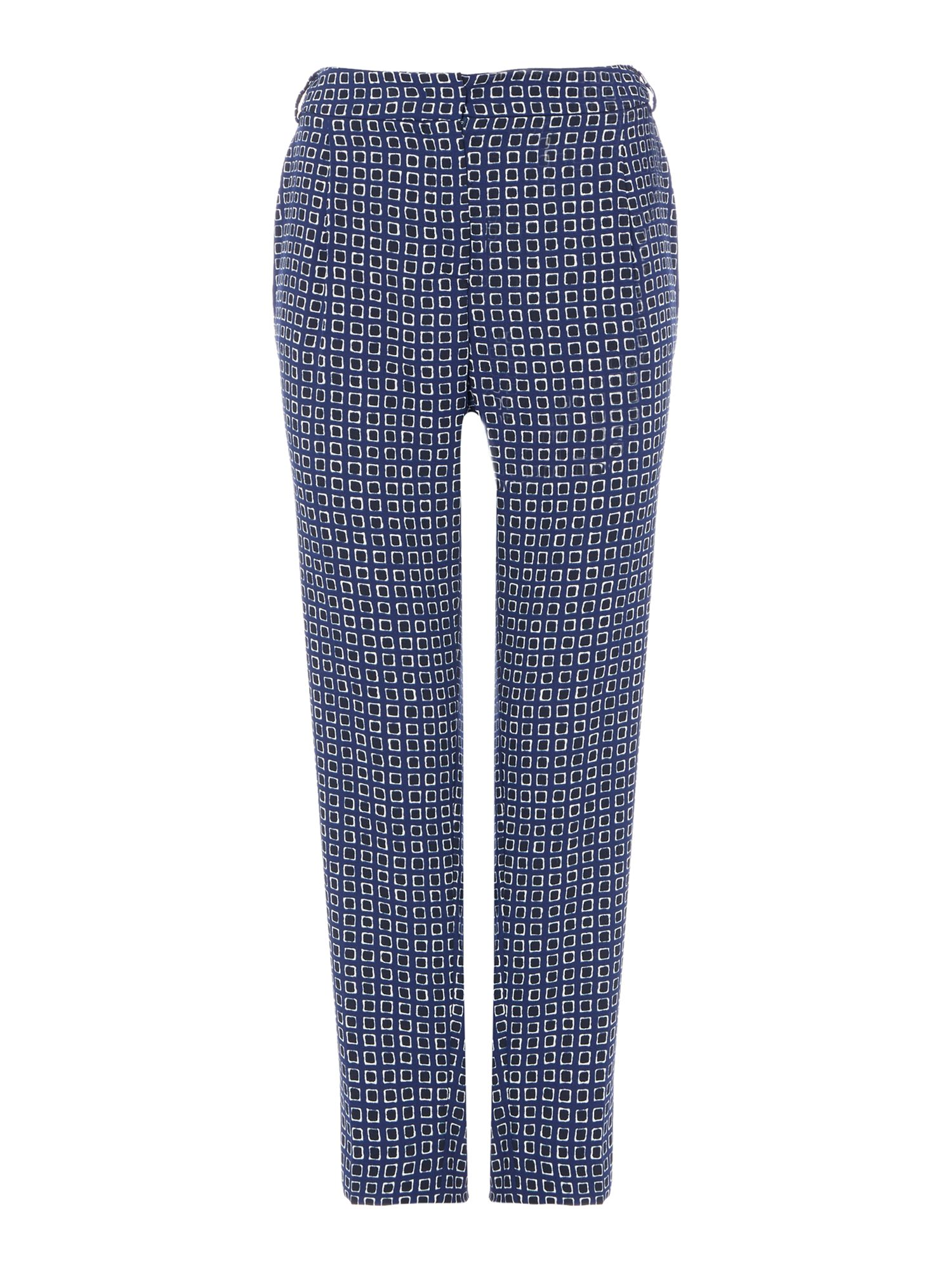 Max Mara Weekend Esperia Slim Fit Printed Trouser, Blue
