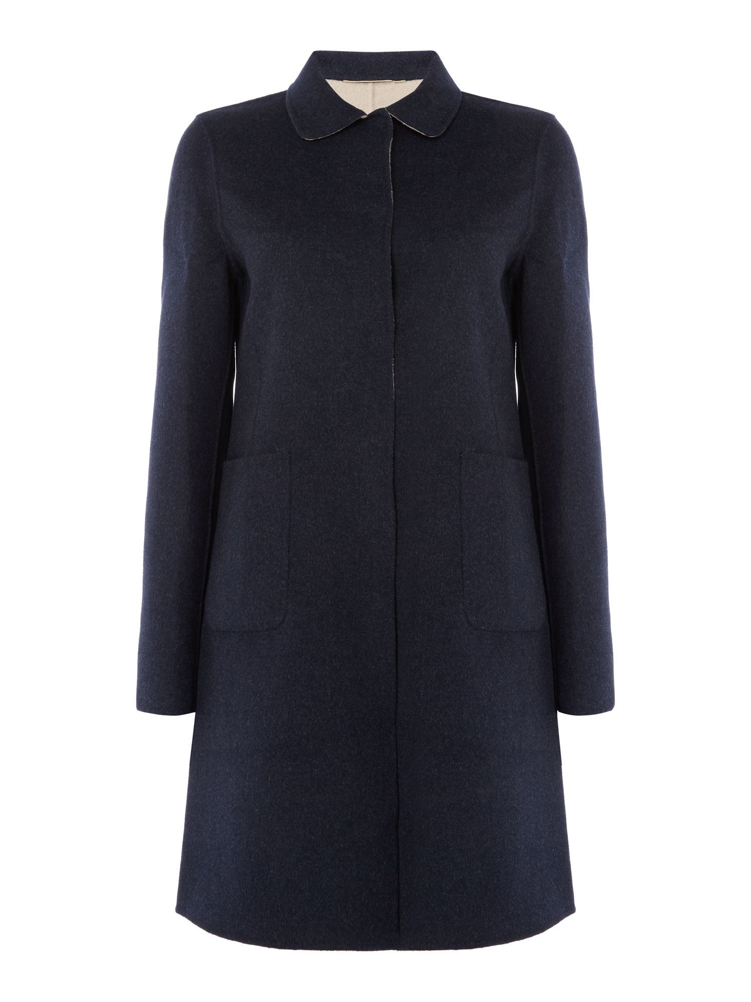 Max Mara Weekend Stecca Reversible Long Sleeve Wool Coat, Ultramarine