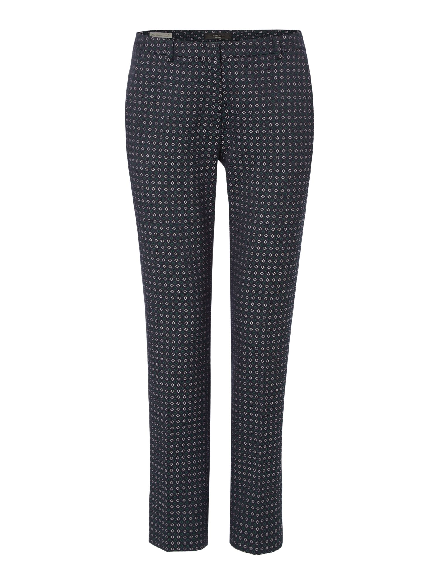 Max Mara Weekend Mincio Printed Cigarette Trouser, Ultramarine