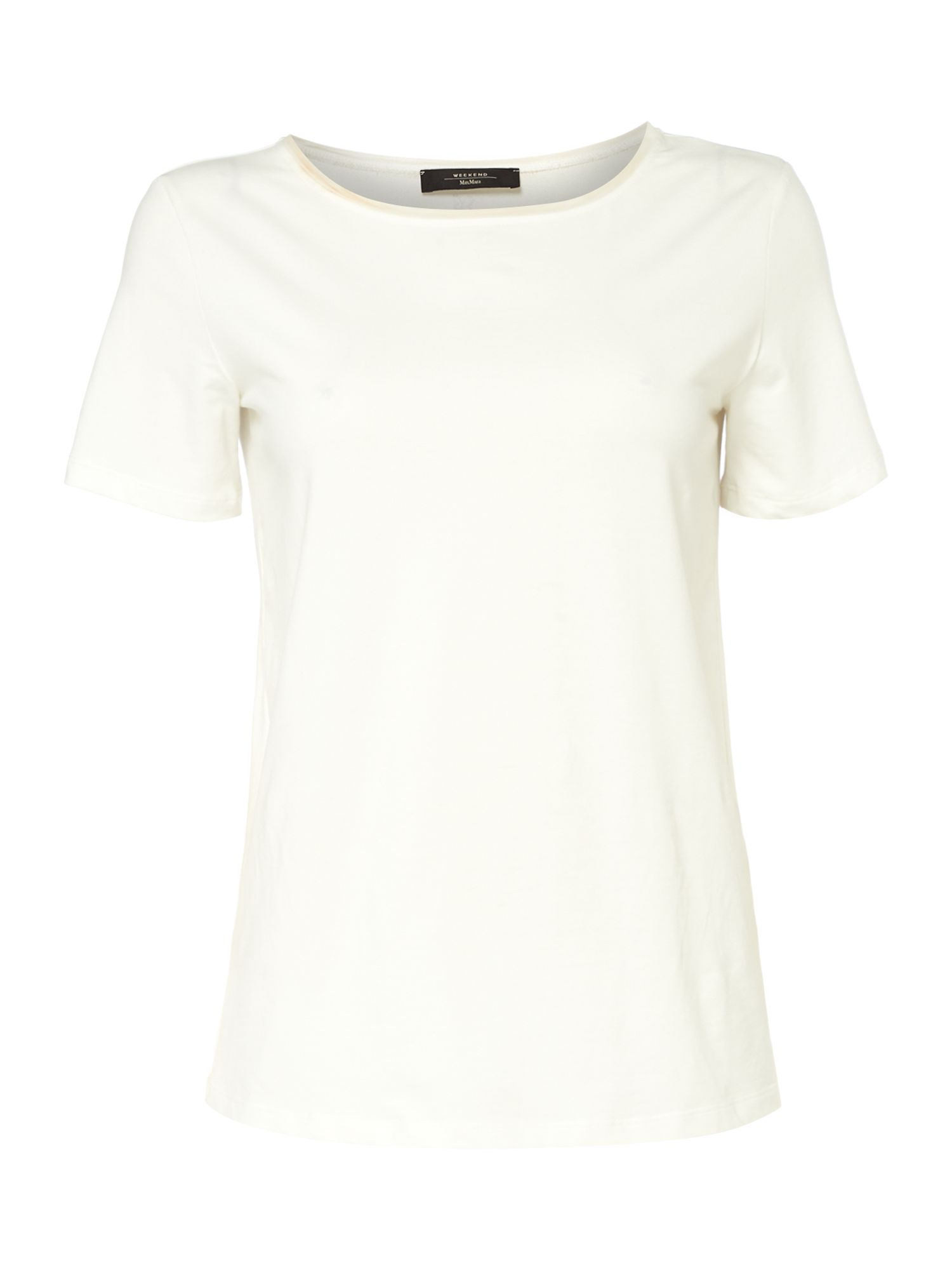 Max Mara Weekend Multid Plain White Jersey Tee, White