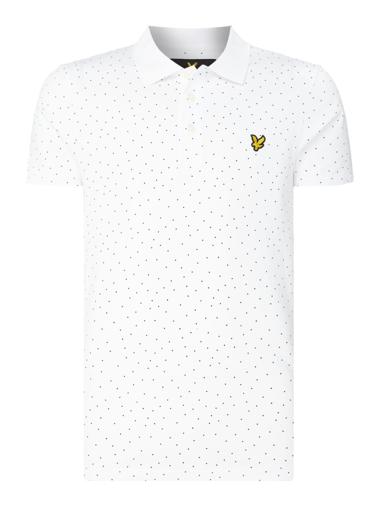 Men's Lyle and Scott Minimal dot short sleeve polo, White