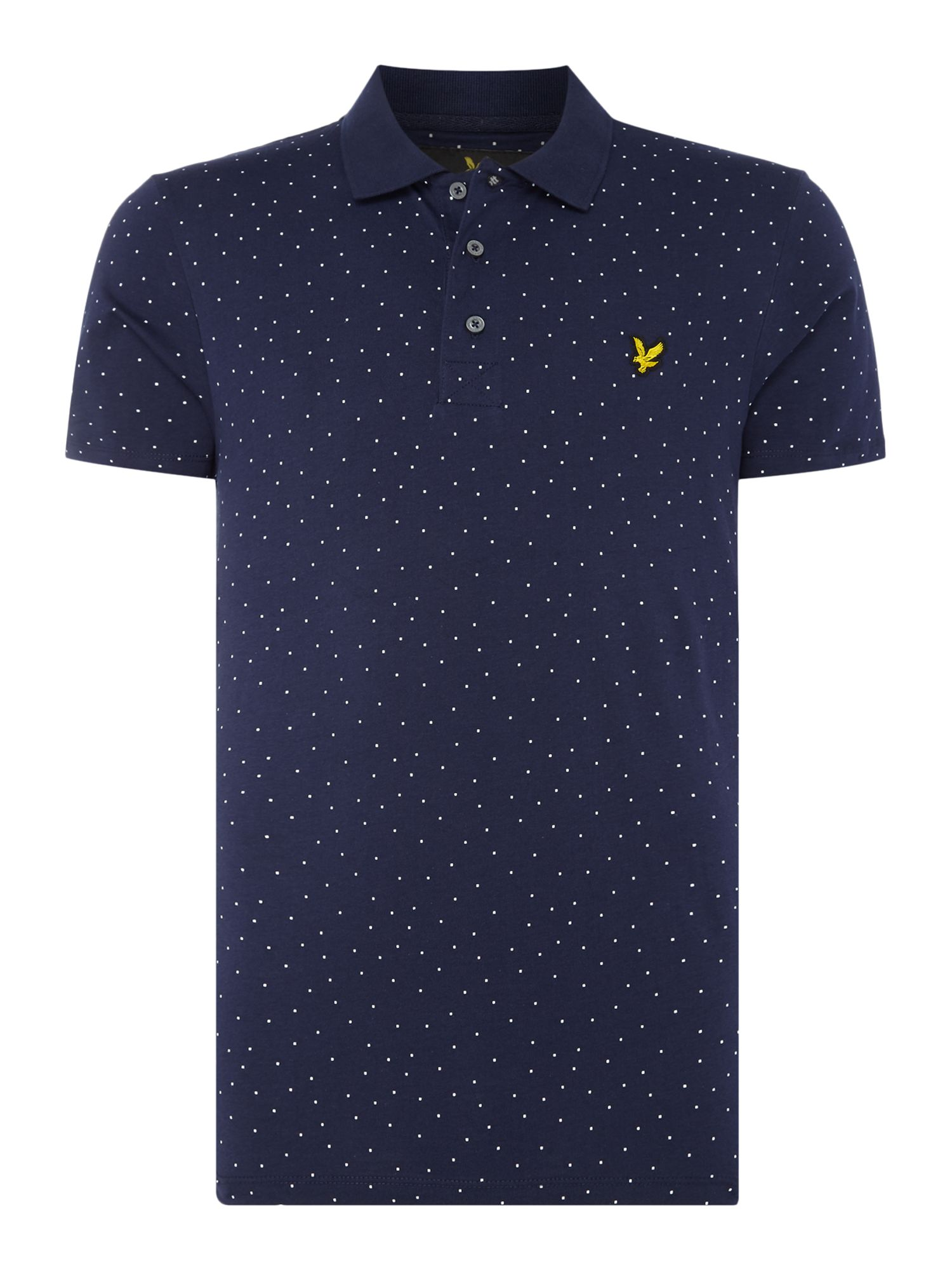 Men's Lyle and Scott Minimal dot short sleeve polo, Blue