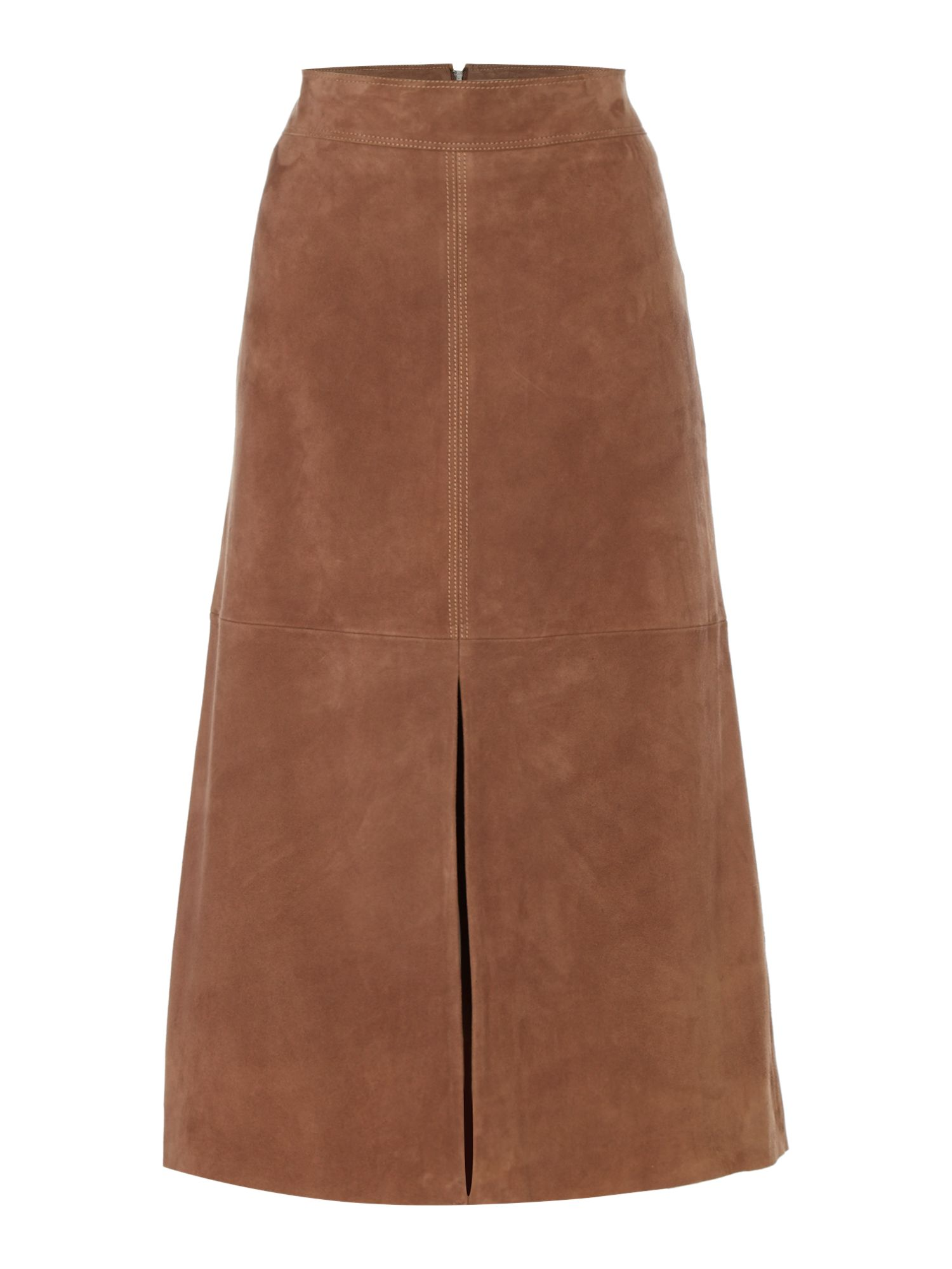 Max Mara Weekend Zadar Suede Pencil Skirt, Tobacco