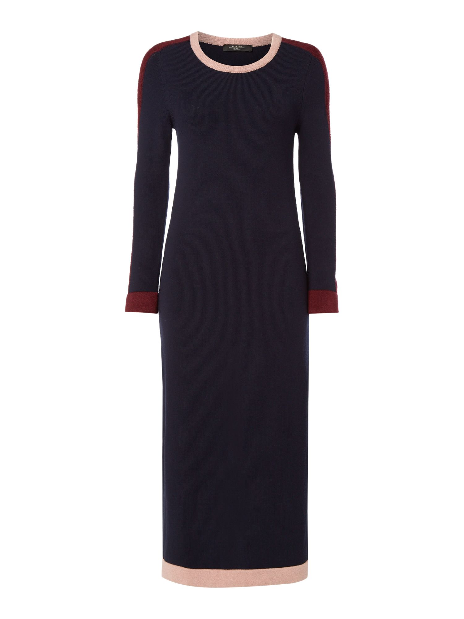 Max Mara Weekend Era Midi Long Sleeve Crew Neck Jersey Dress, Ultramarine